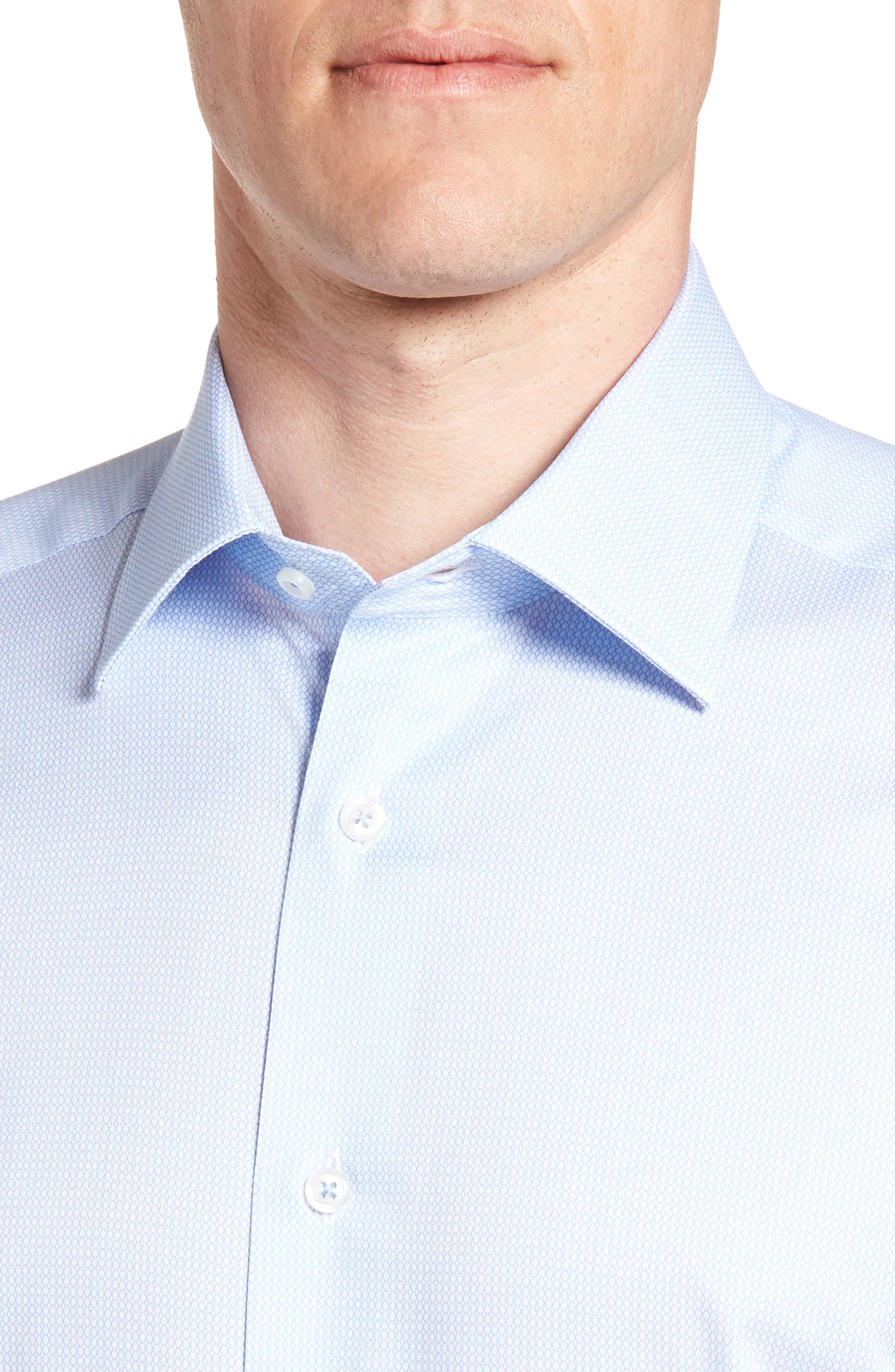 Nickoe Trim Fit Dress Shirt,                             Alternate thumbnail 2, color,                             BLUE