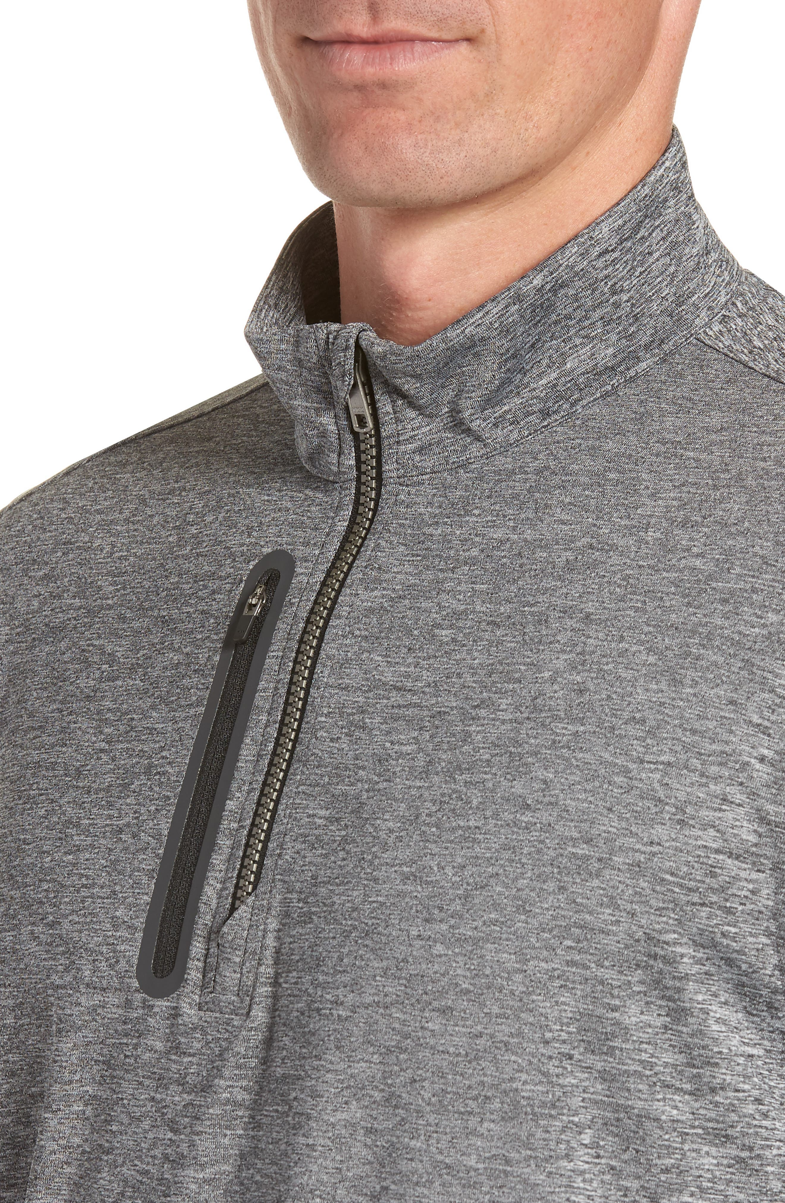 Stealth Regular Fit Half Zip Pullover,                             Alternate thumbnail 4, color,                             ELEMENTAL GREY