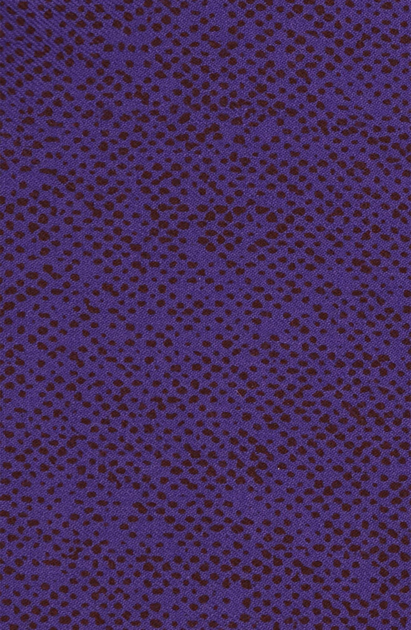 Purple Dot Wool Pocket Square,                             Alternate thumbnail 3, color,                             500