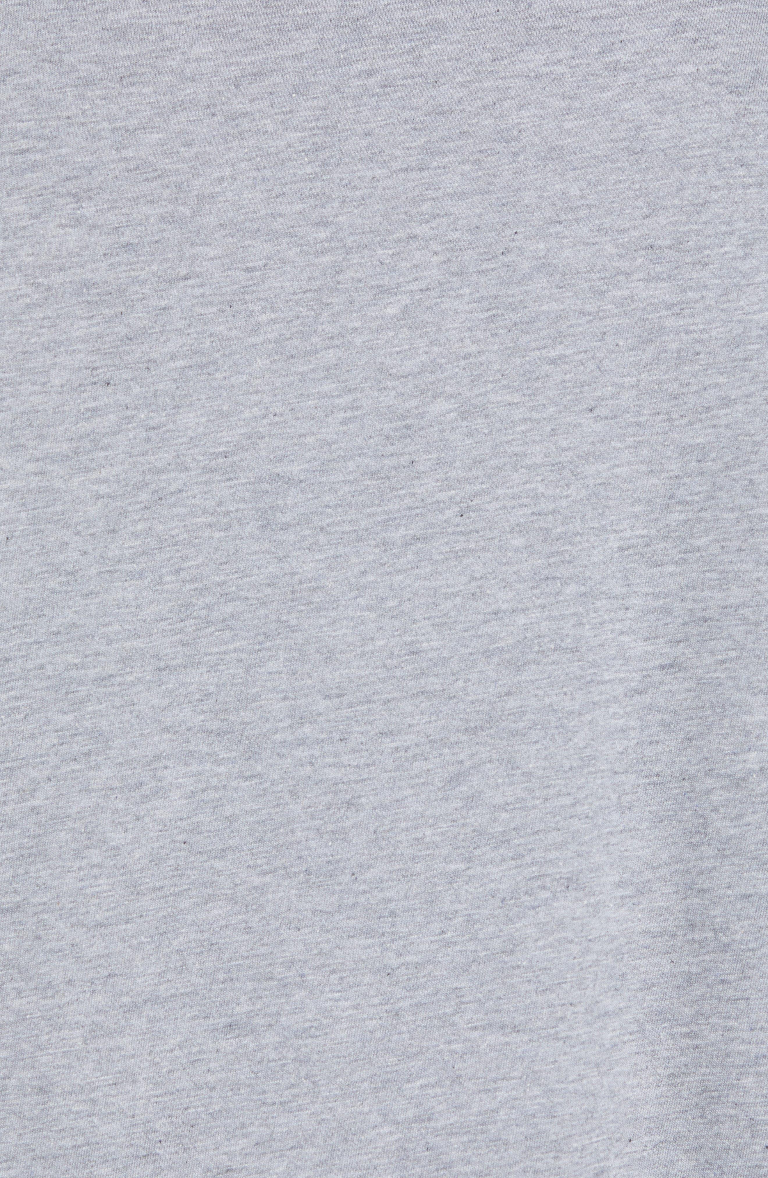 Shibby Crewneck T-Shirt,                             Alternate thumbnail 5, color,                             HEATHER GREY