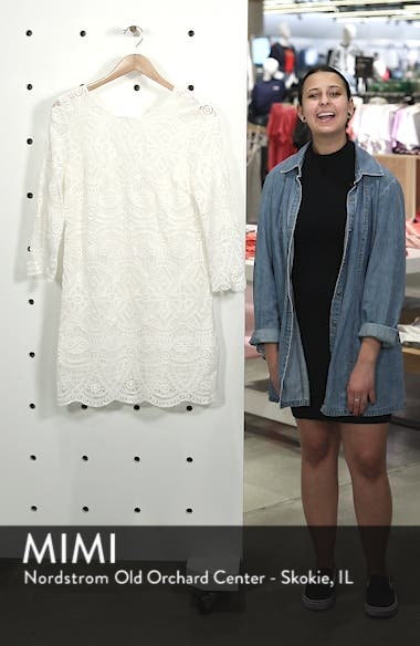 Sarah Lace Shift Dress, sales video thumbnail