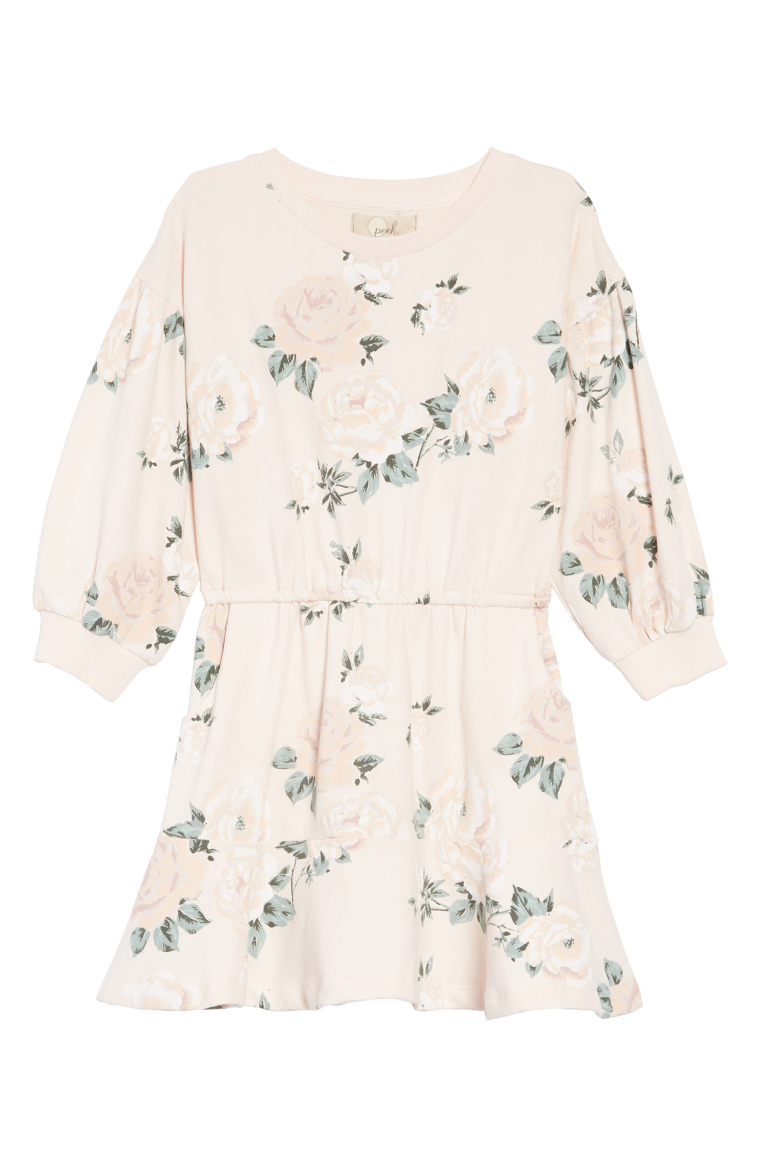 Kirsten Floral Print Dress,                             Main thumbnail 1, color,                             PINK