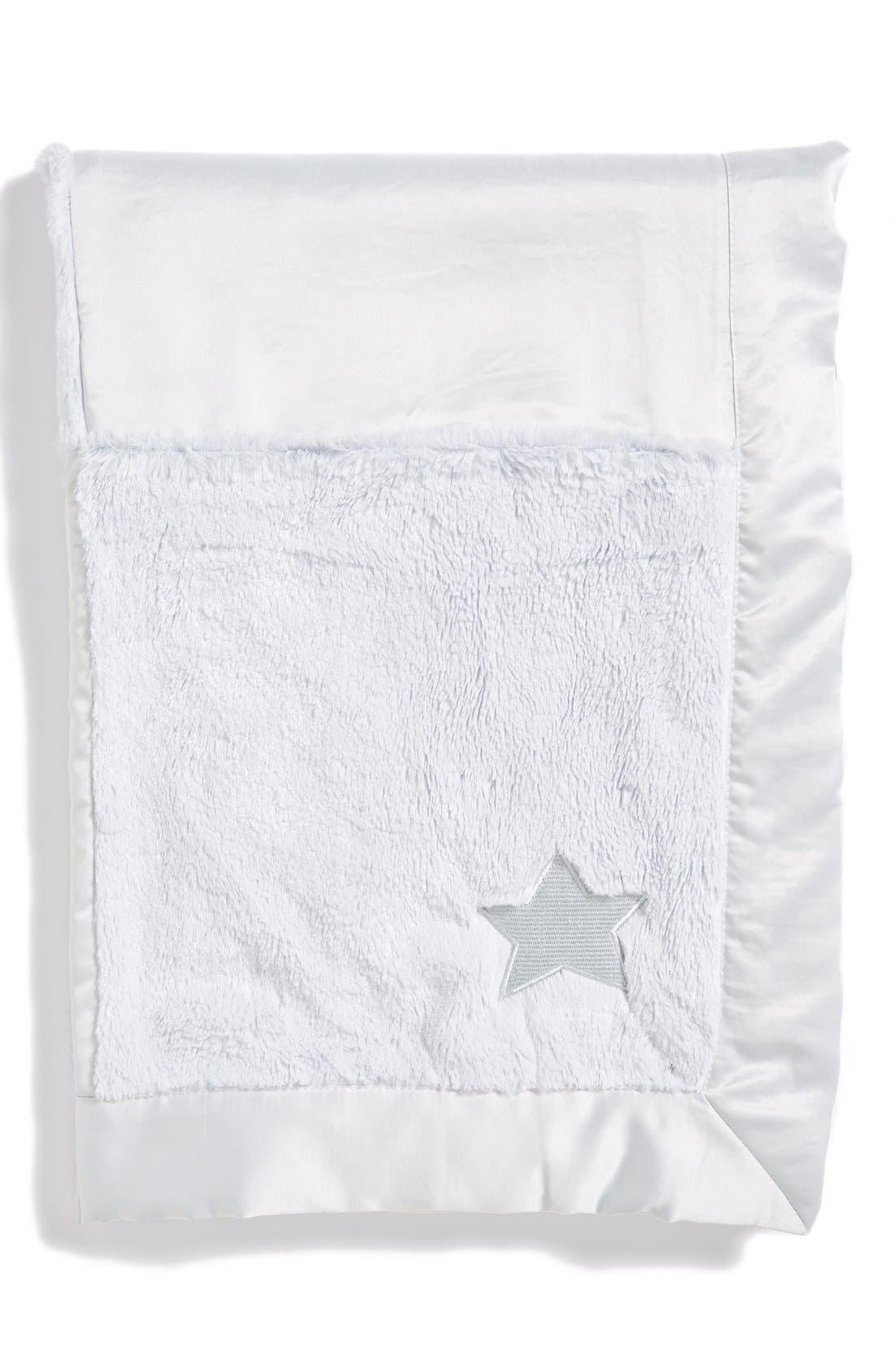 'Cuddle' Patchwork Receiving Blanket,                             Alternate thumbnail 4, color,                             400