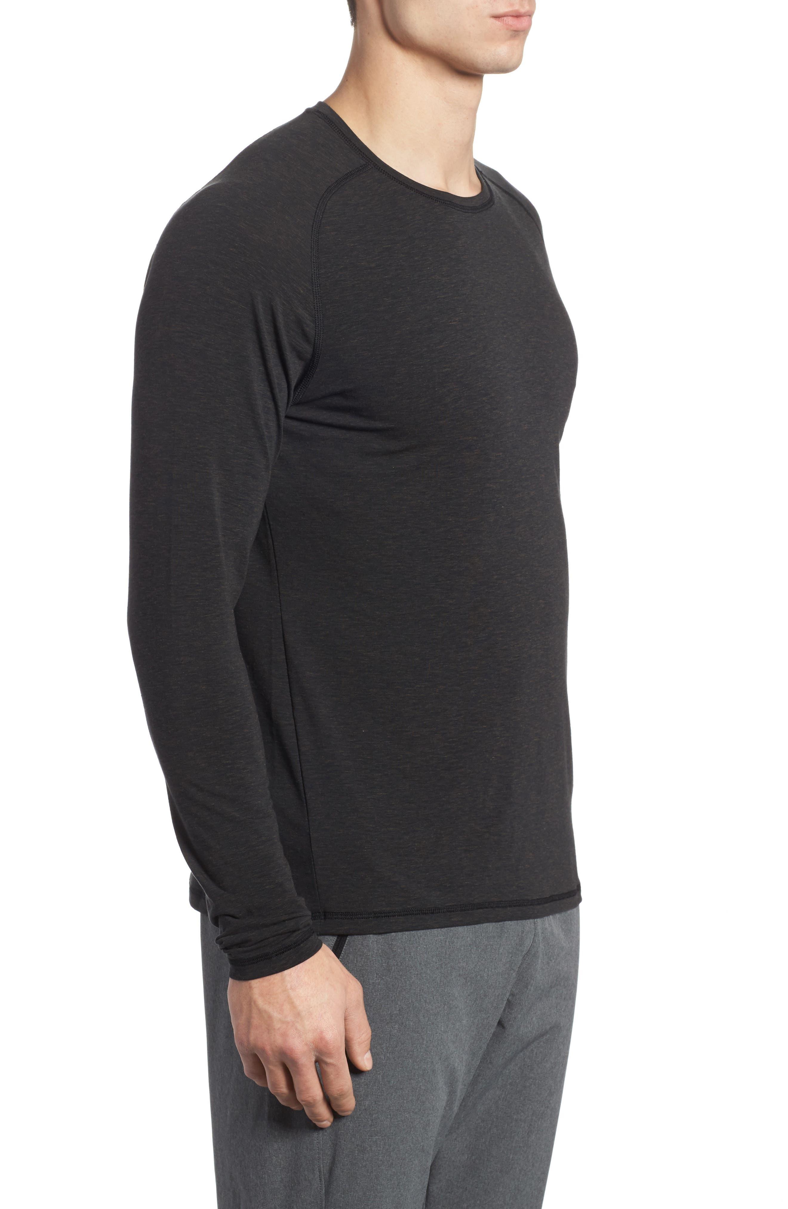 Long Sleeve T-Shirt,                             Alternate thumbnail 3, color,                             BLACK OXIDE HEATHER