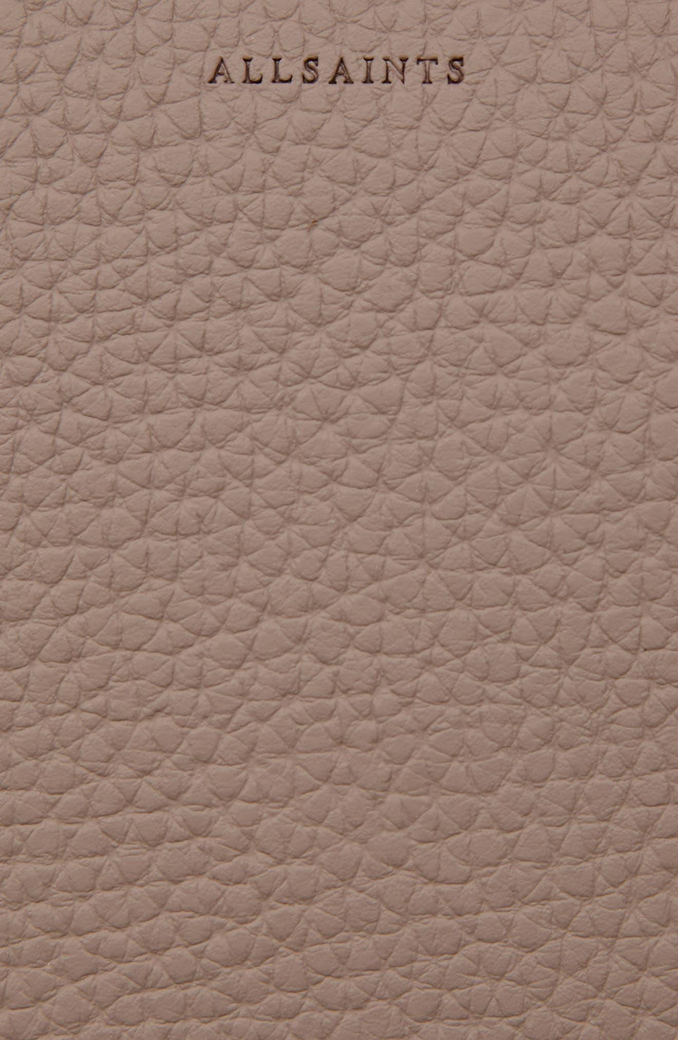 Kepi Mini Leather Crossbody Bag,                             Alternate thumbnail 6, color,                             ALMOND BROWN