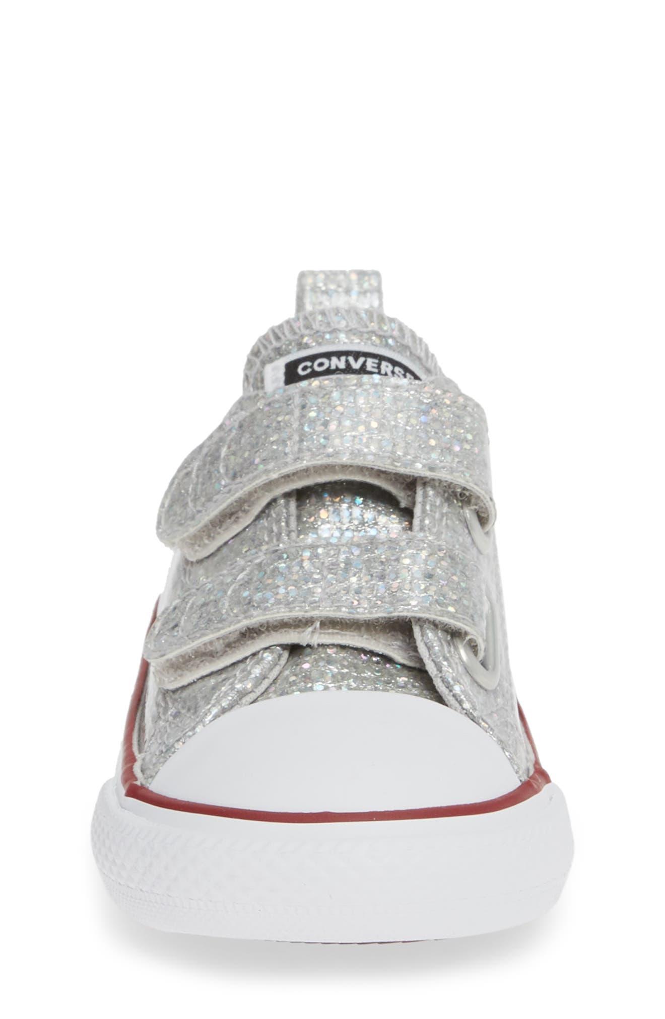 All Star<sup>®</sup> Seasonal Glitter Sneaker,                             Alternate thumbnail 4, color,                             050