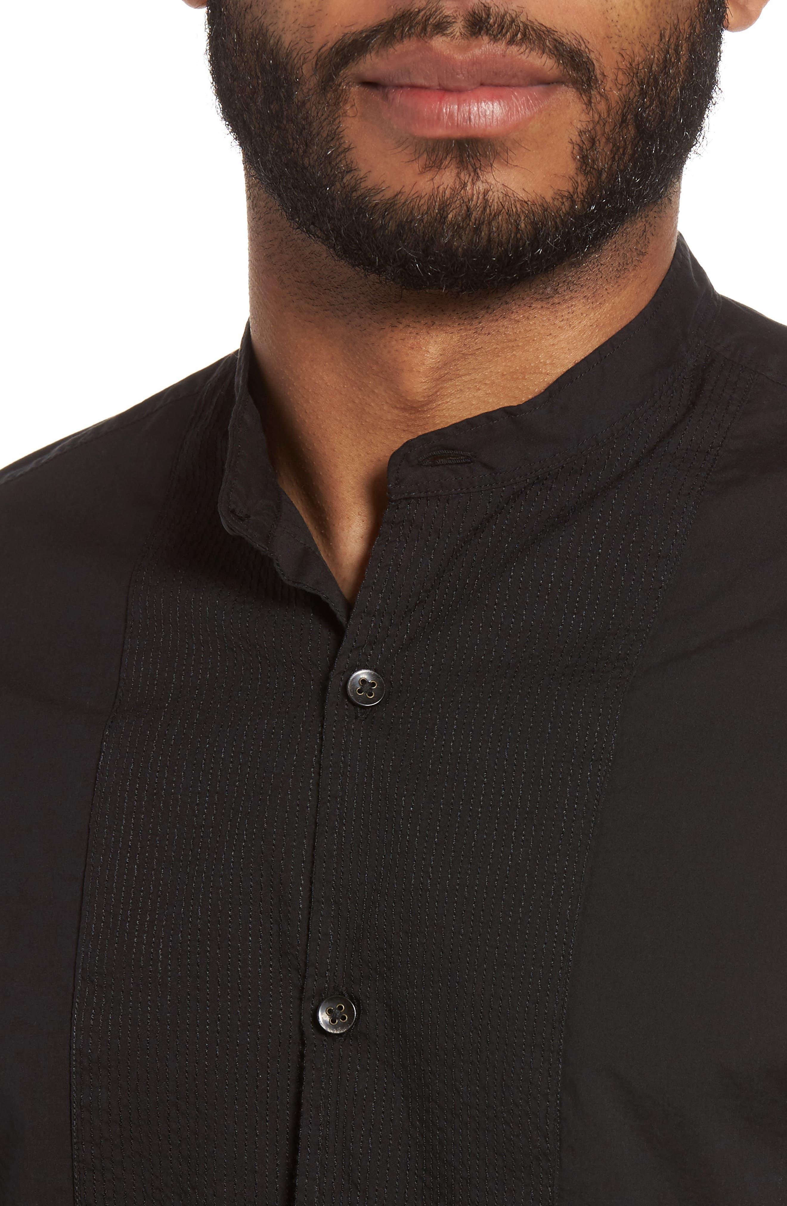 Trim Fit Bib Front Sport Shirt,                             Alternate thumbnail 4, color,                             001