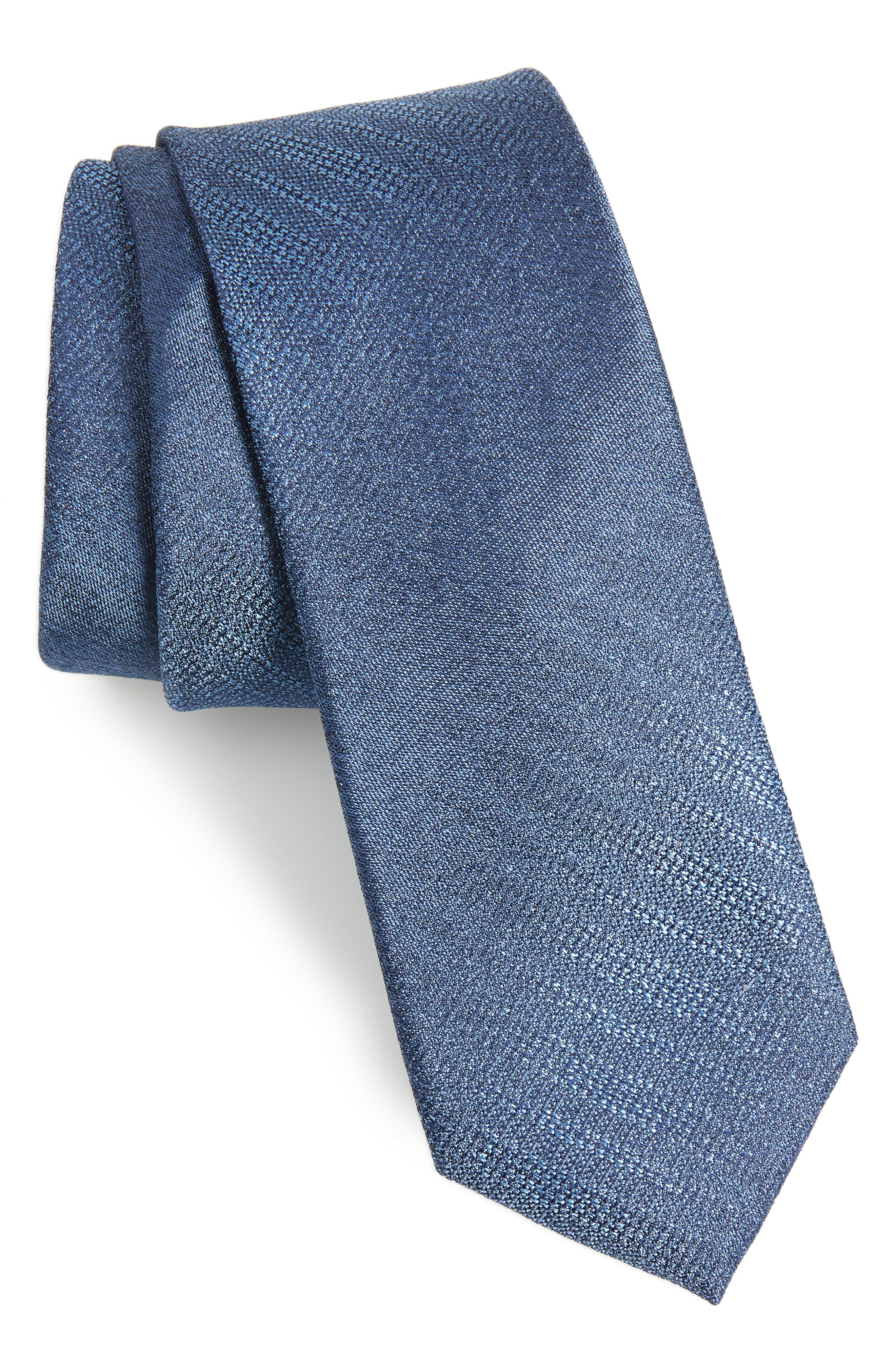 Gneiss Stripe Silk Skinny Tie,                             Main thumbnail 1, color,                             410