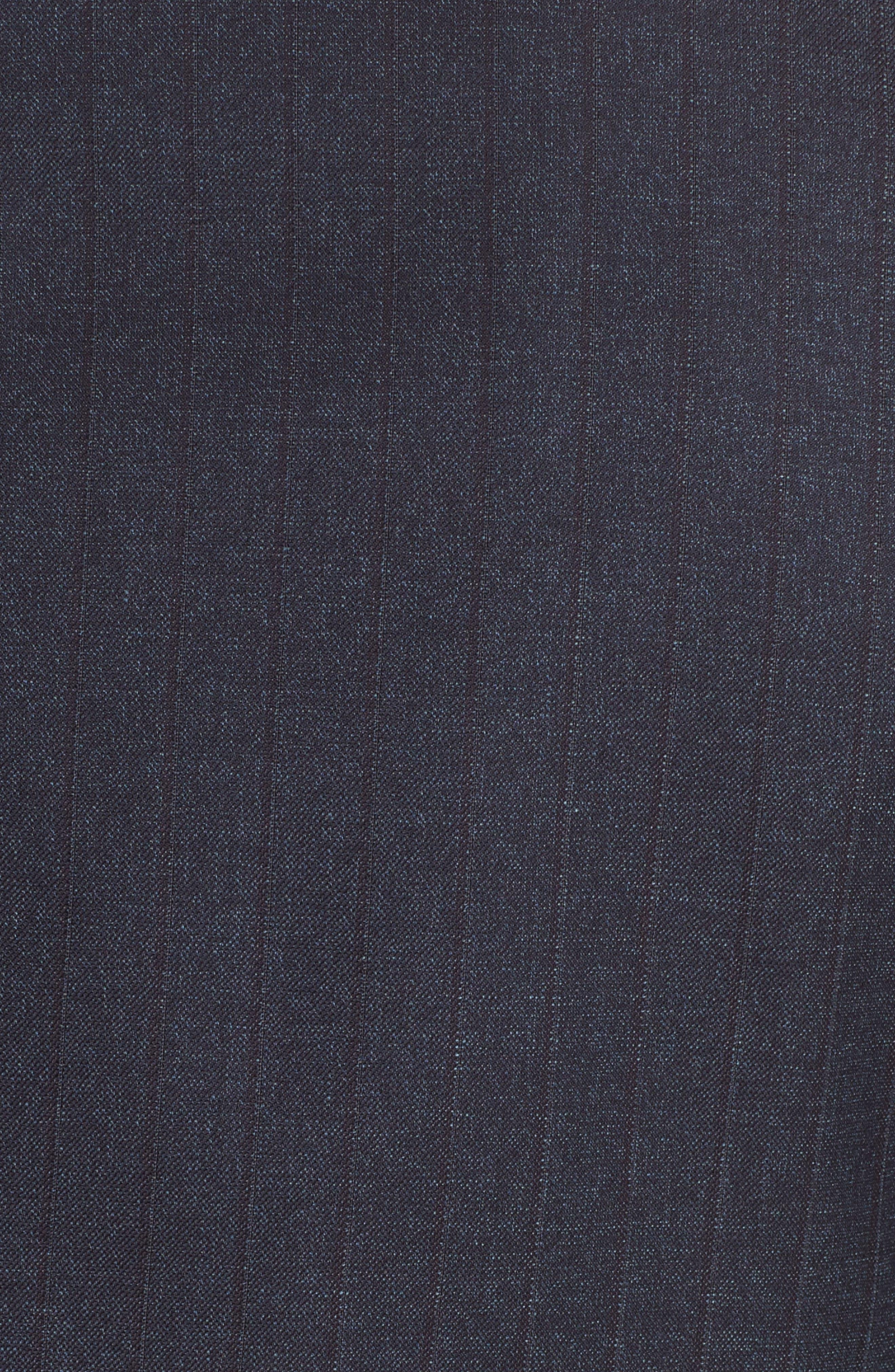 Trim Fit Stripe Wool Suit,                             Alternate thumbnail 7, color,                             NAVY