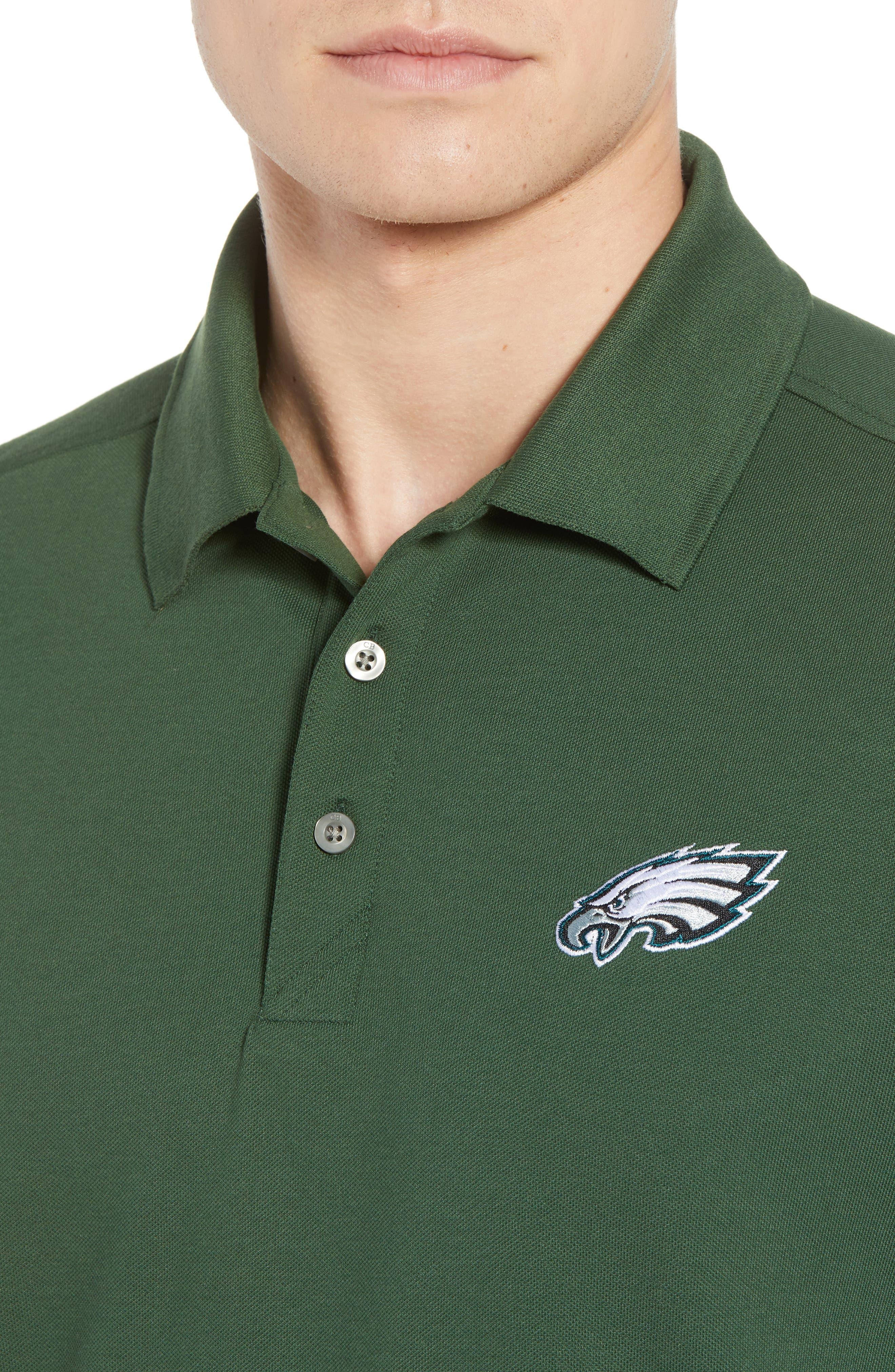 Philadelphia Eagles - Advantage Regular Fit DryTec Polo,                             Alternate thumbnail 4, color,                             HUNTER GREEN