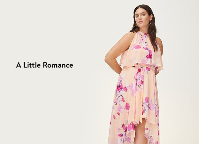 A little romance, pretty florals and fresh hues: pink dress.