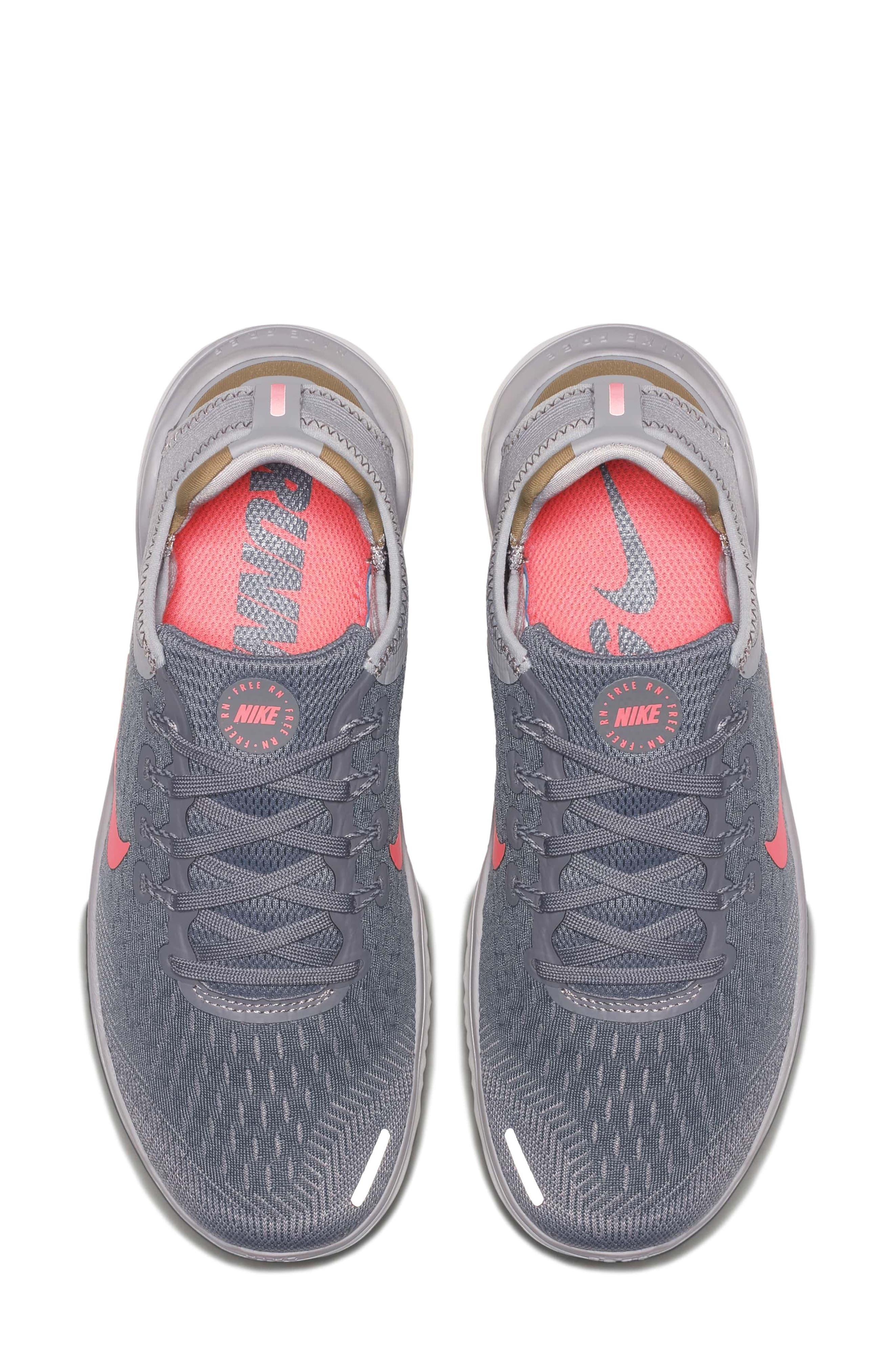 Free RN 2018 Running Shoe,                             Alternate thumbnail 4, color,                             SMOKE/ CRIMSON PULSE