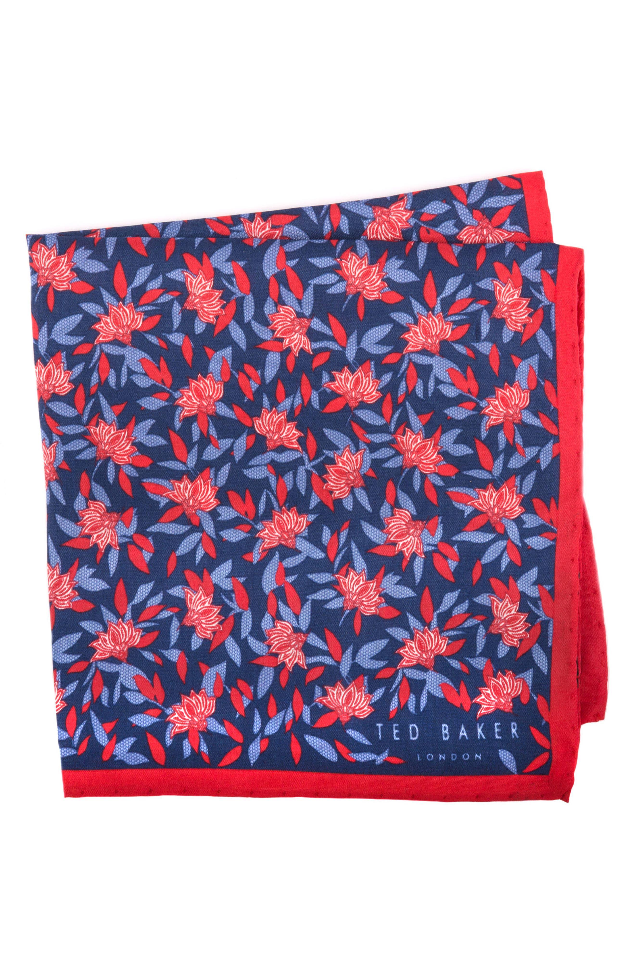 Botanical Silk Pocket Square,                             Main thumbnail 2, color,