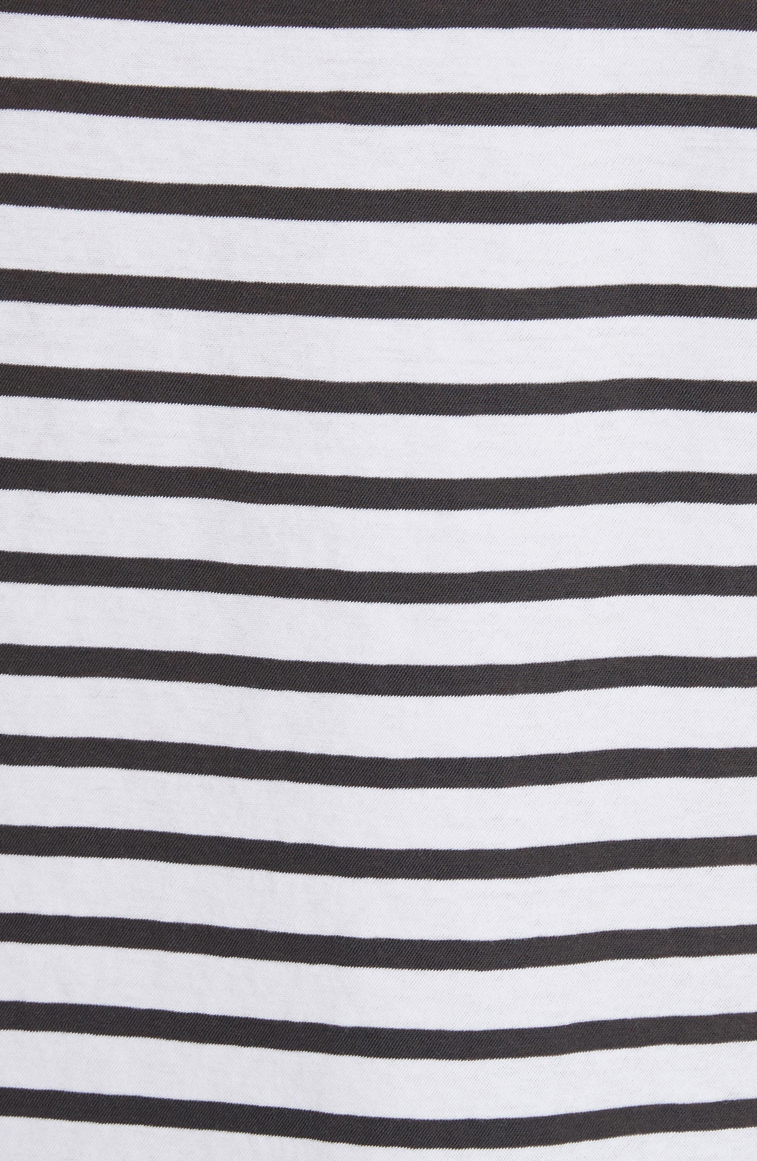 Mila Stripe Tee,                             Alternate thumbnail 5, color,                             101