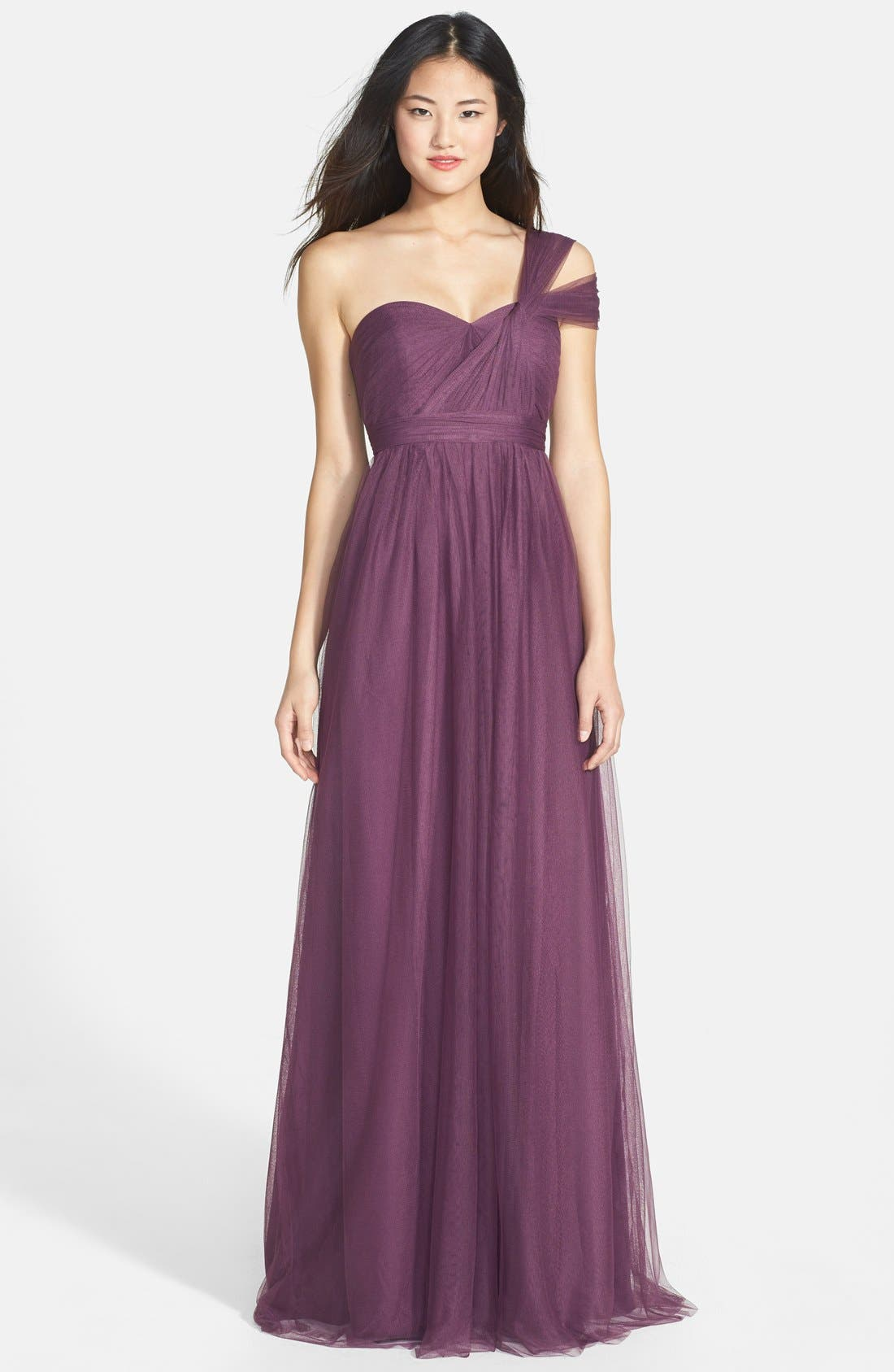 Annabelle Convertible Tulle Column Dress,                             Alternate thumbnail 191, color,