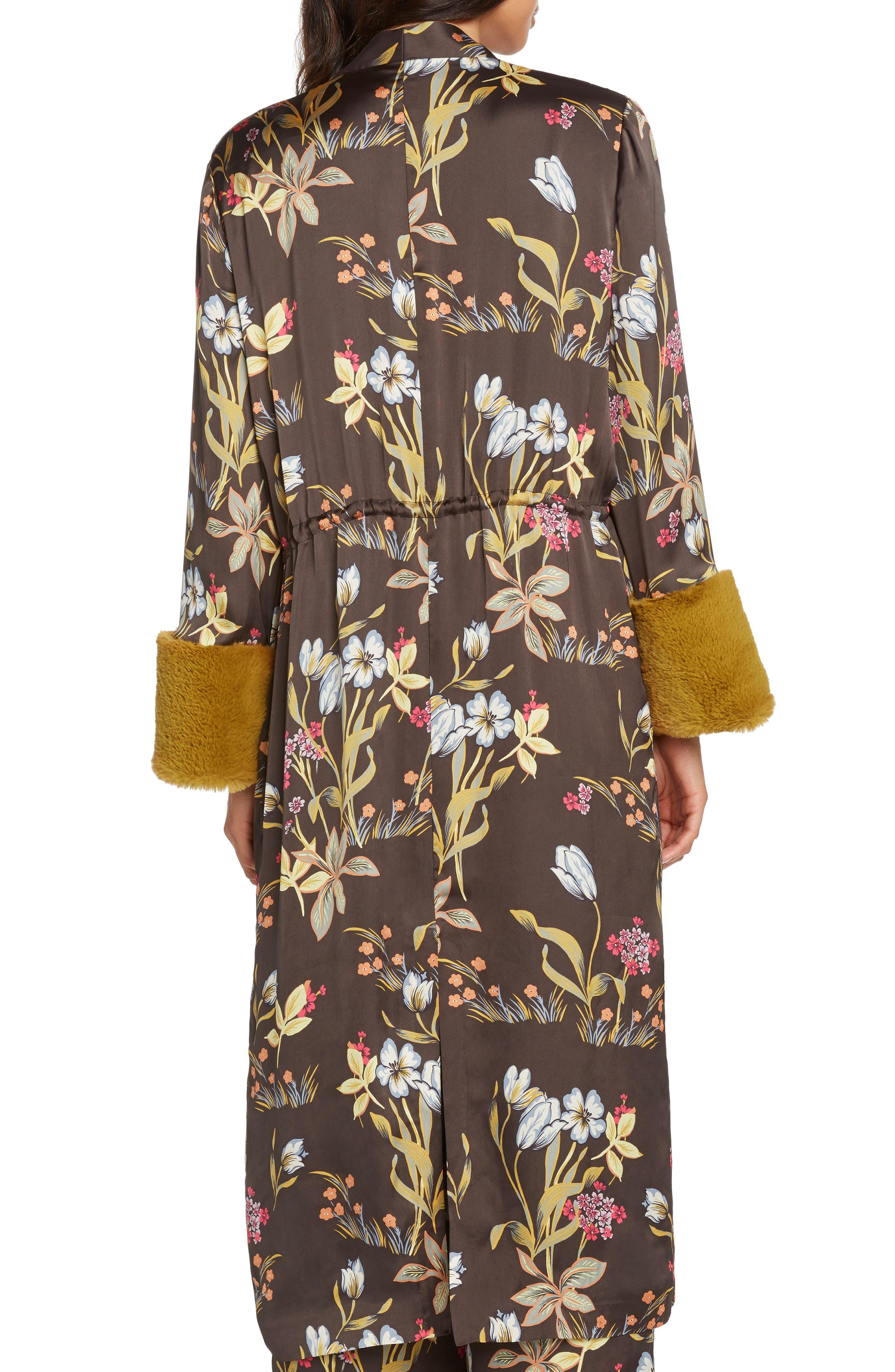 Print Kimono,                             Alternate thumbnail 2, color,                             BLACK