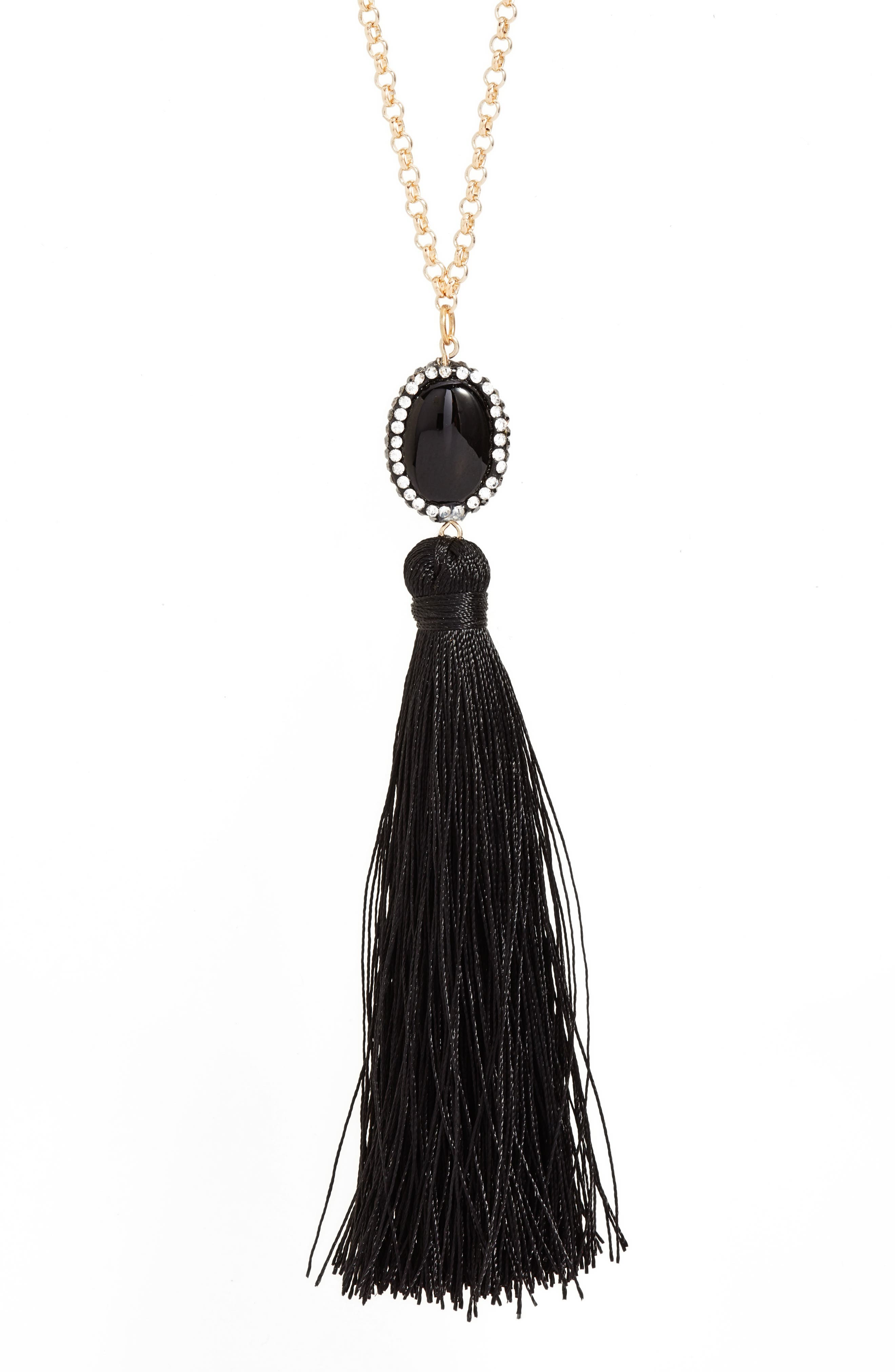 Beaded Tassel Necklace,                             Alternate thumbnail 2, color,                             001