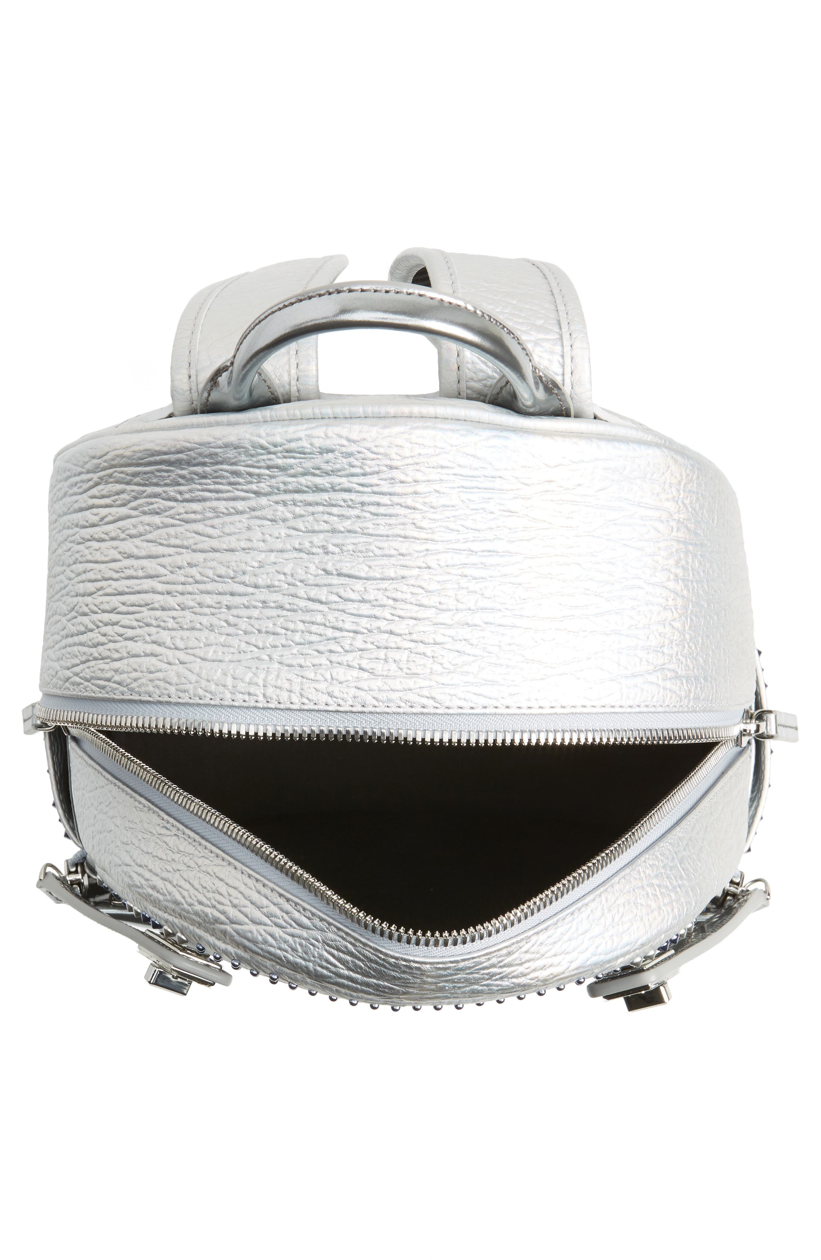 Dual Stark Studded Leather Backpack,                             Alternate thumbnail 8, color,