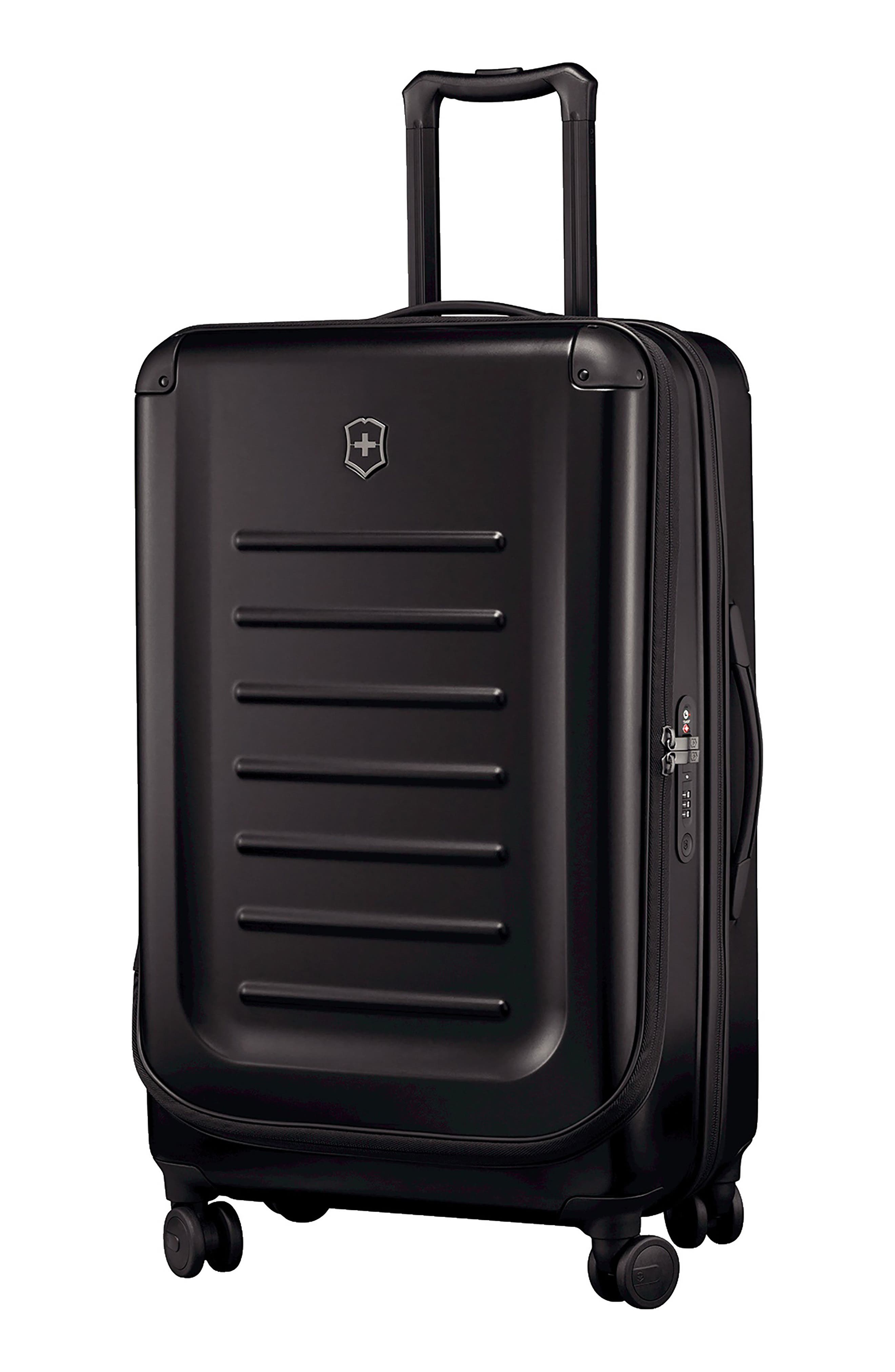 Spectra 2.0 30-Inch Hard Sided Rolling Travel Suitcase,                         Main,                         color, BLACK