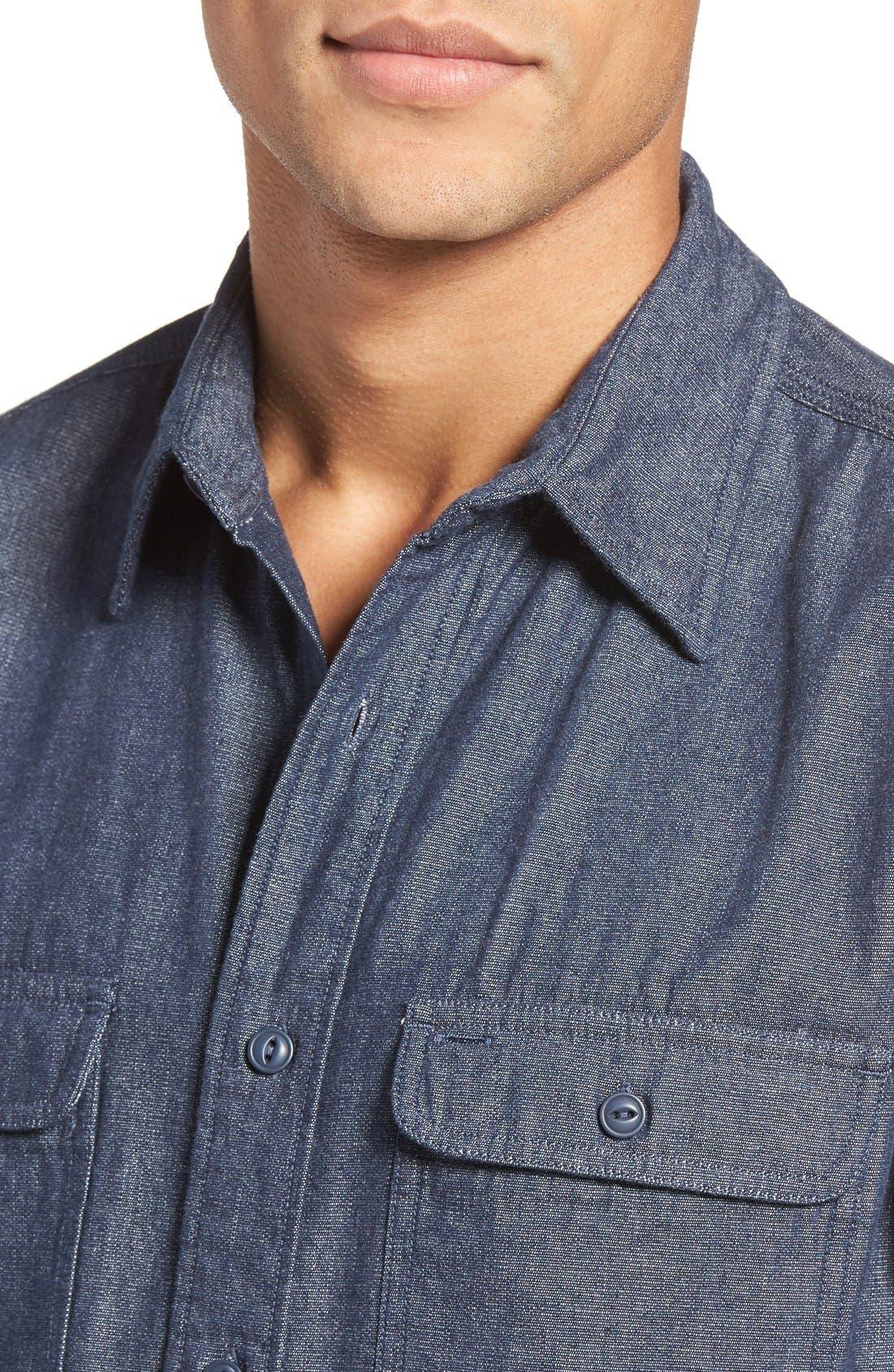 Classic Fit Sport Shirt,                             Alternate thumbnail 2, color,                             BASKET WEAVE