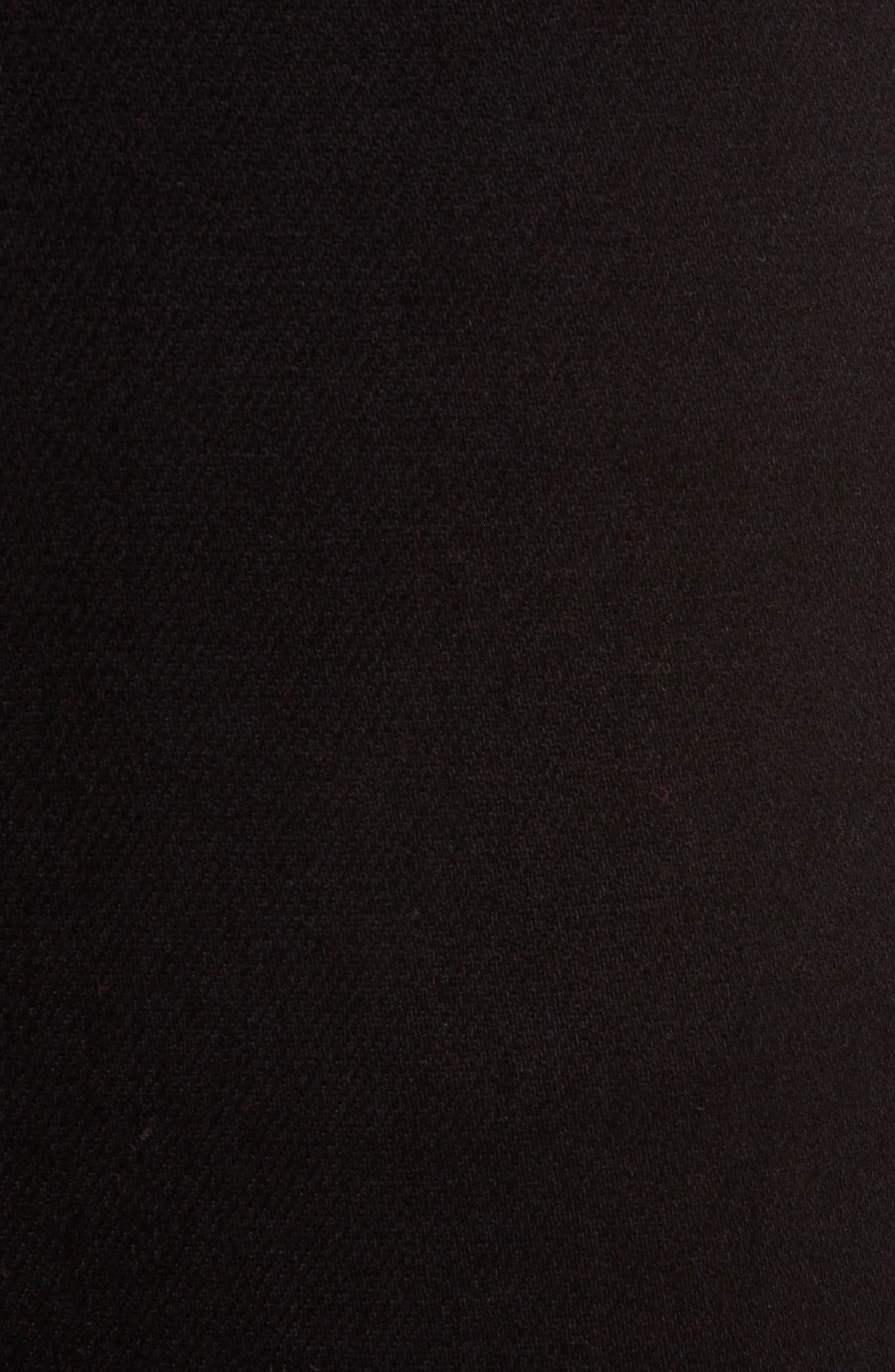 Peg High Waist Skinny Jeans,                             Alternate thumbnail 5, color,                             BLACK