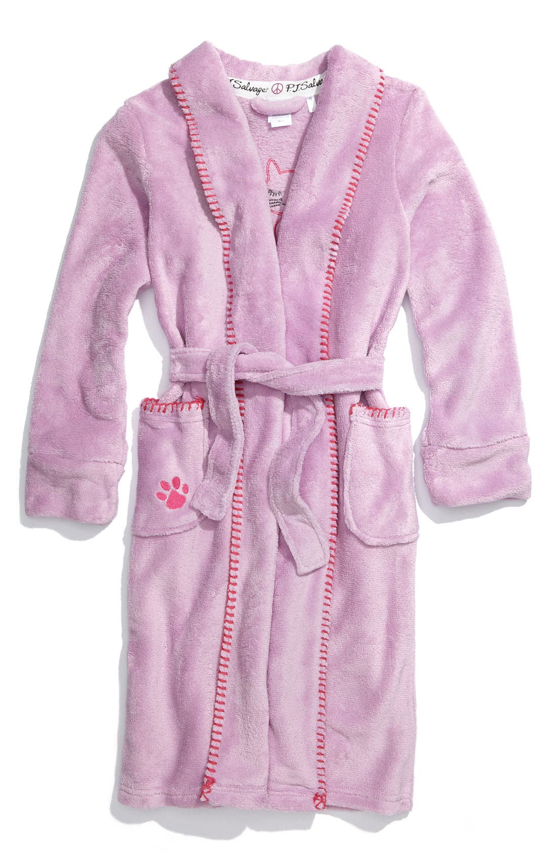 'Marshmallow' Appliqué Robe, Main, color, 500