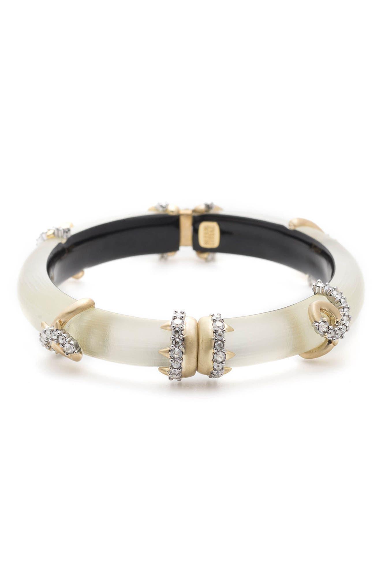 Crystal Encrusted Open Knot Bracelet,                             Main thumbnail 1, color,                             100