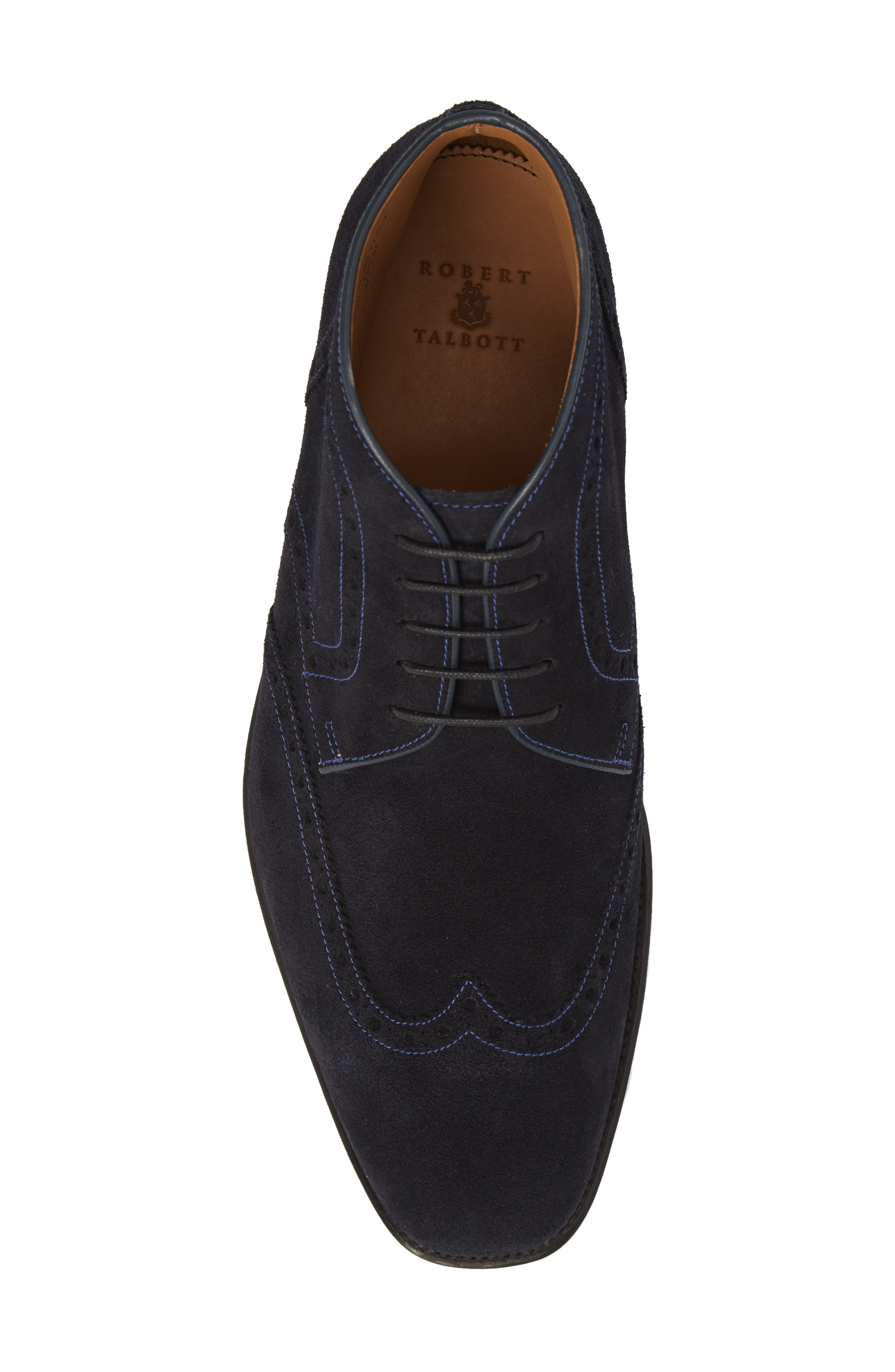 Presidio Wingtip Boot,                             Alternate thumbnail 5, color,                             NAVY