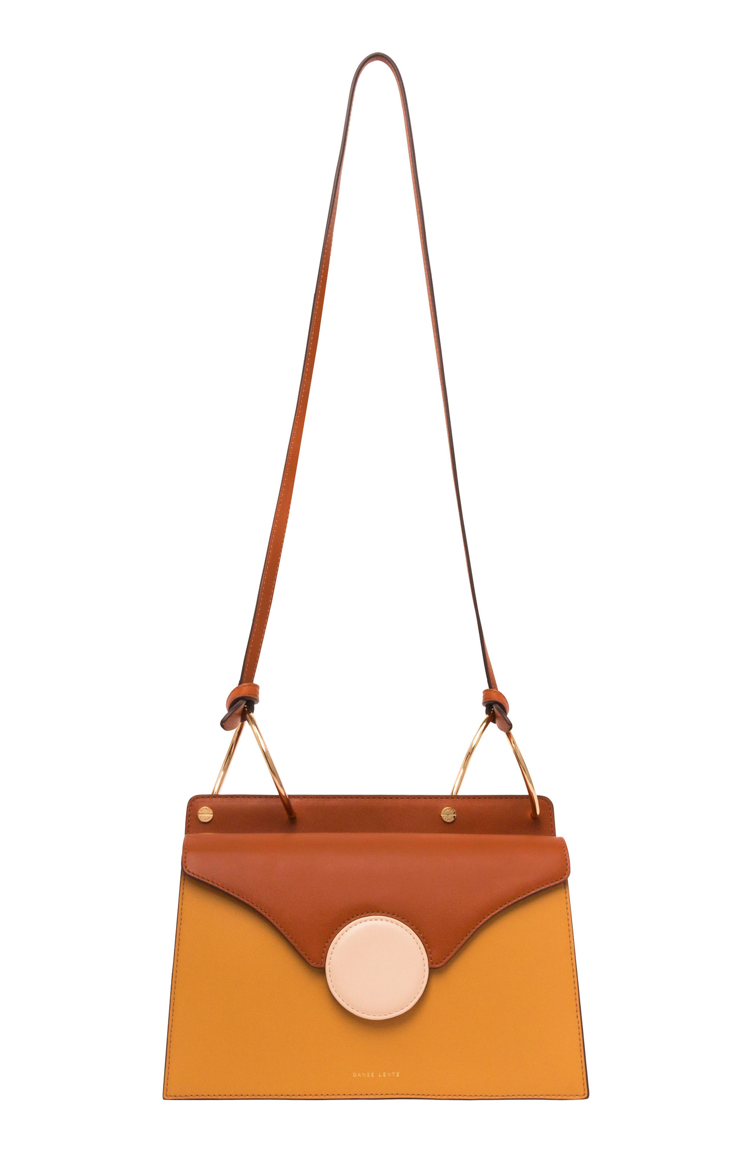 Phoebe Leather Crossbody Bag,                             Alternate thumbnail 3, color,                             SAND/ AMBER