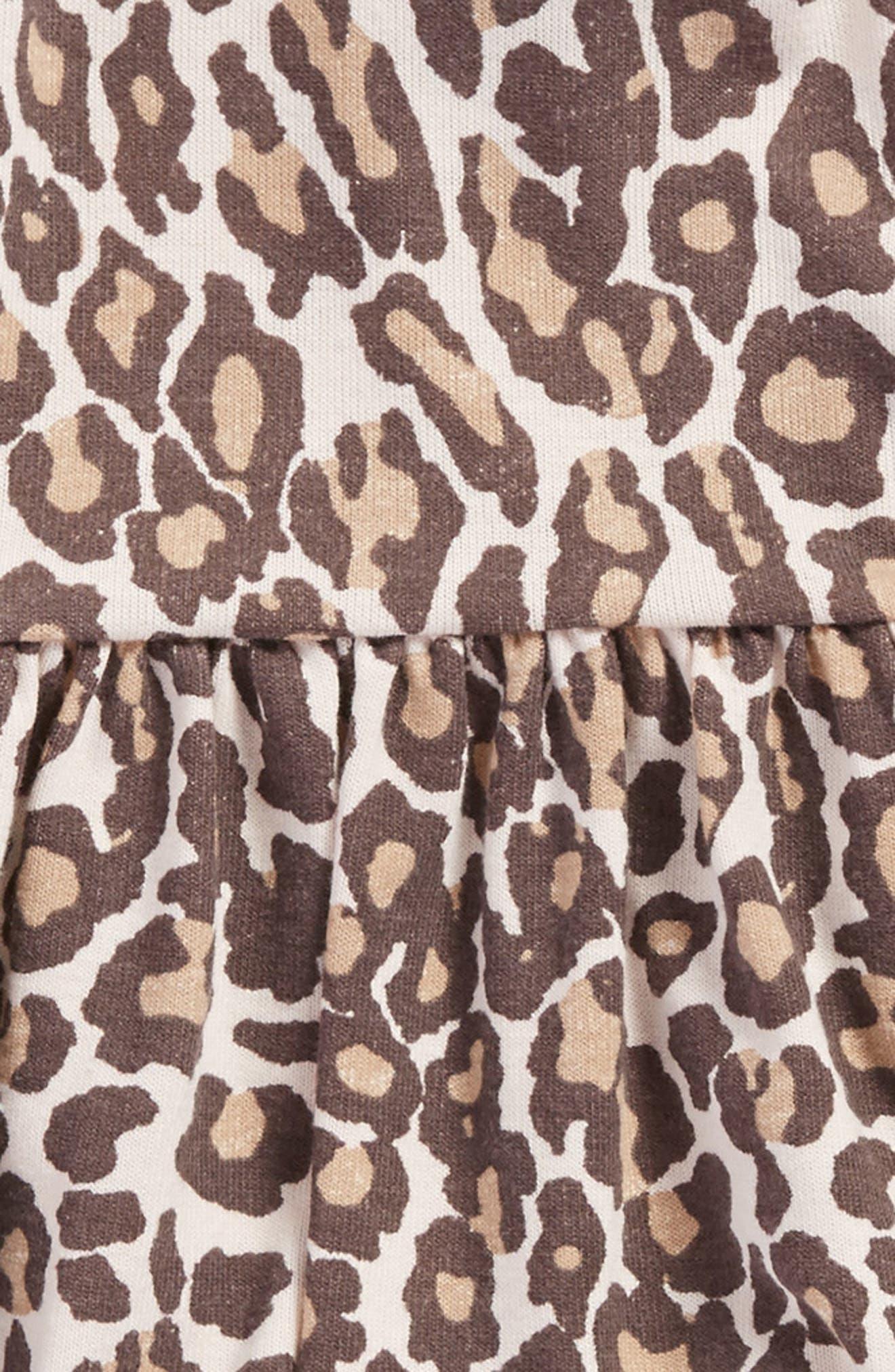 Animal Print Knit Dress,                             Alternate thumbnail 3, color,                             255
