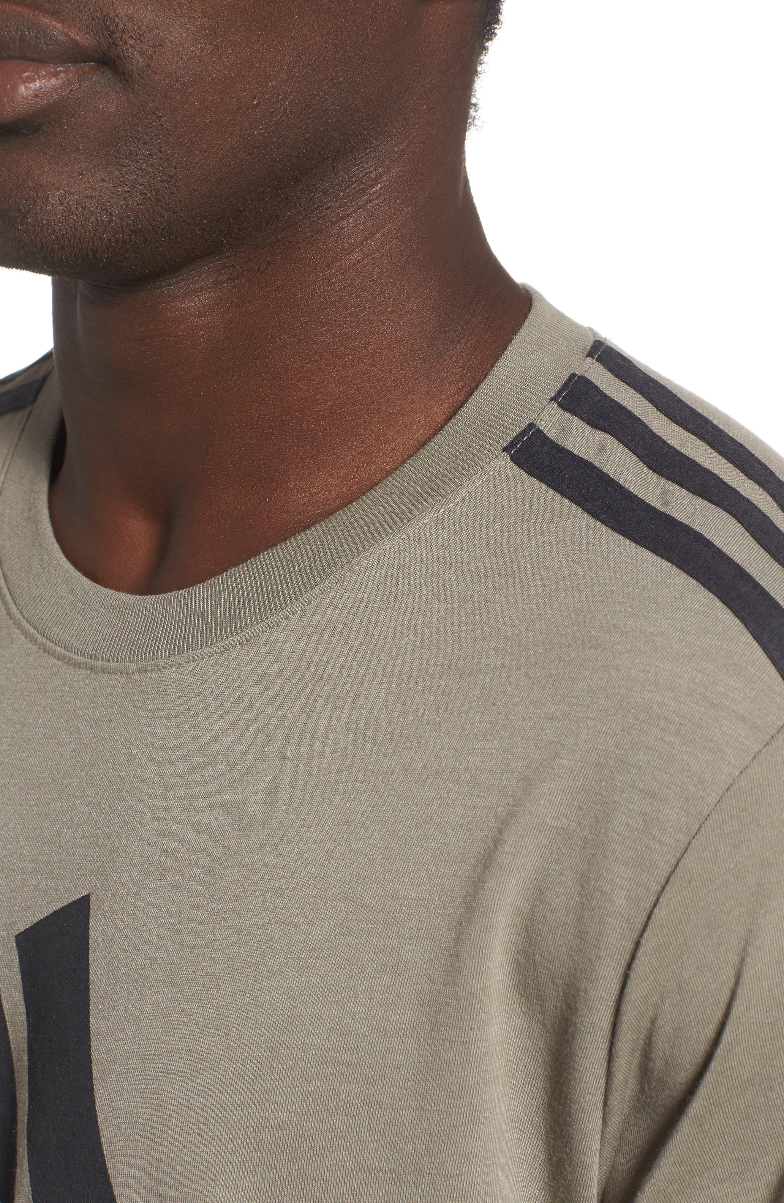 Classic International Crewneck T-Shirt,                             Alternate thumbnail 4, color,                             001
