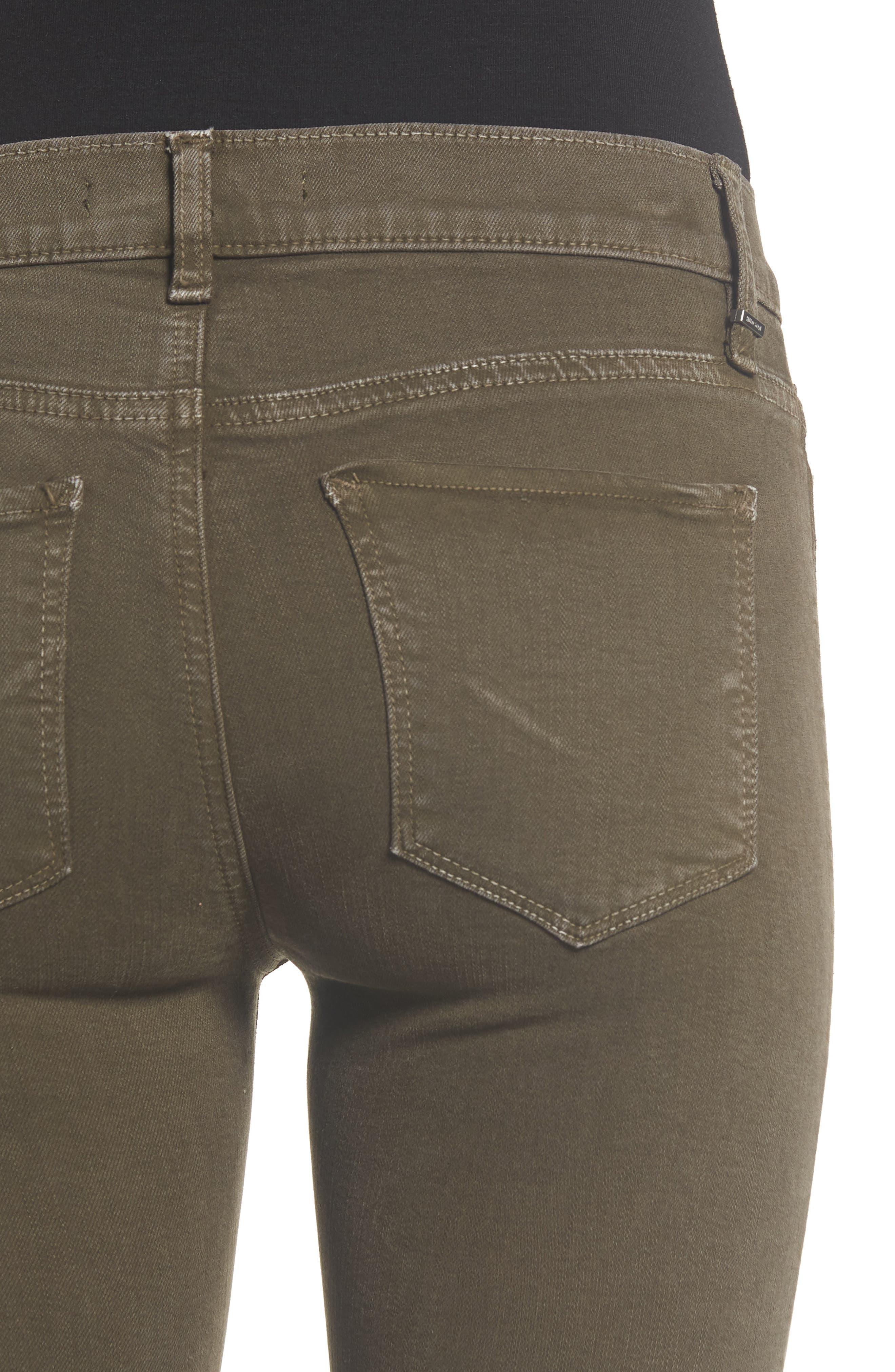 HudsonJeans Nico Super Skinny Jeans,                             Alternate thumbnail 4, color,                             DISTRESSED DARK FORESTER