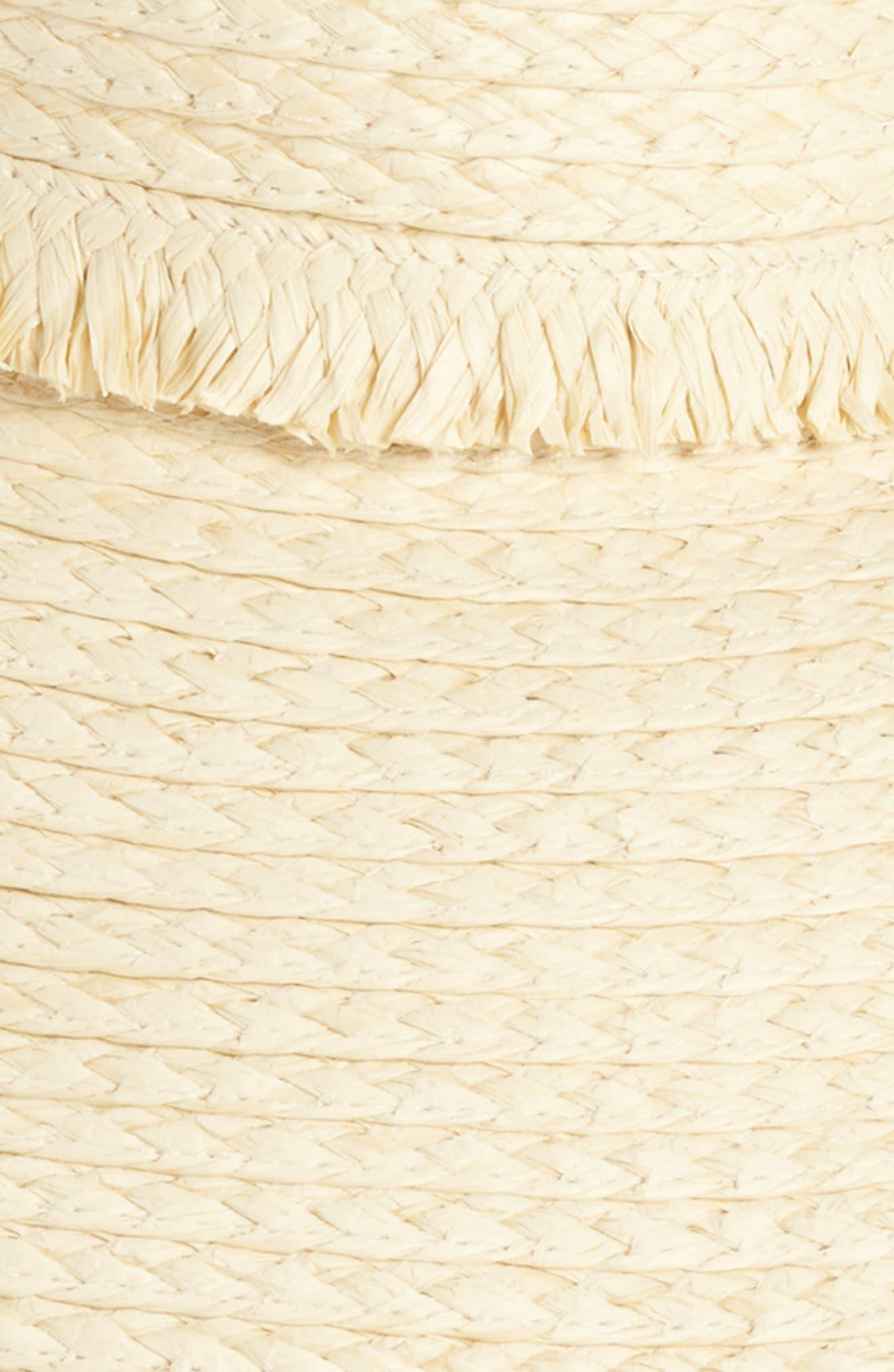 Fringed Straw Sun Visor,                             Alternate thumbnail 4, color,