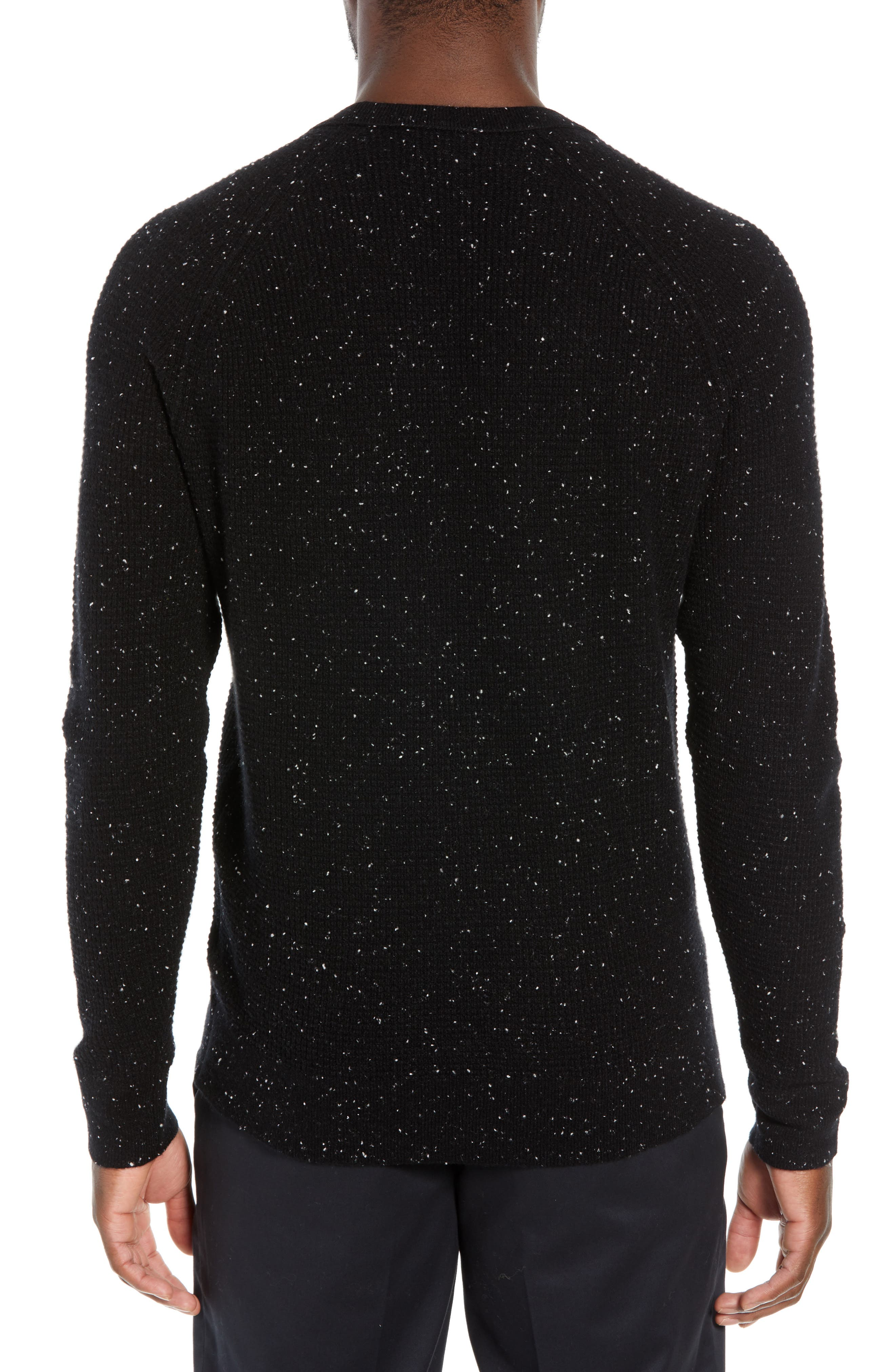 BONOBOS,                             Slim Fit Cashmere Sweater,                             Alternate thumbnail 2, color,                             001