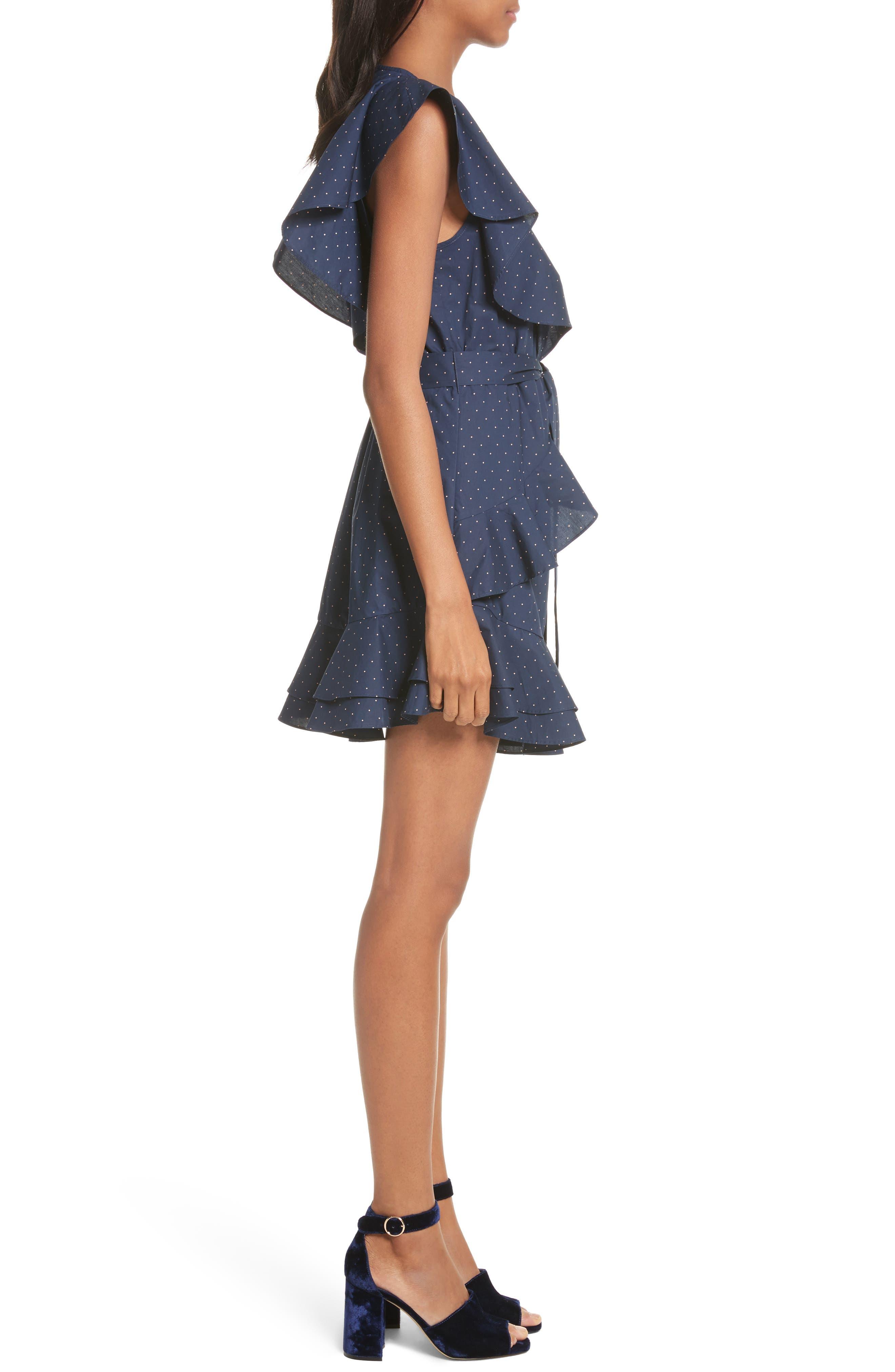Malachy Ruffle Dot Cotton Dress,                             Alternate thumbnail 3, color,