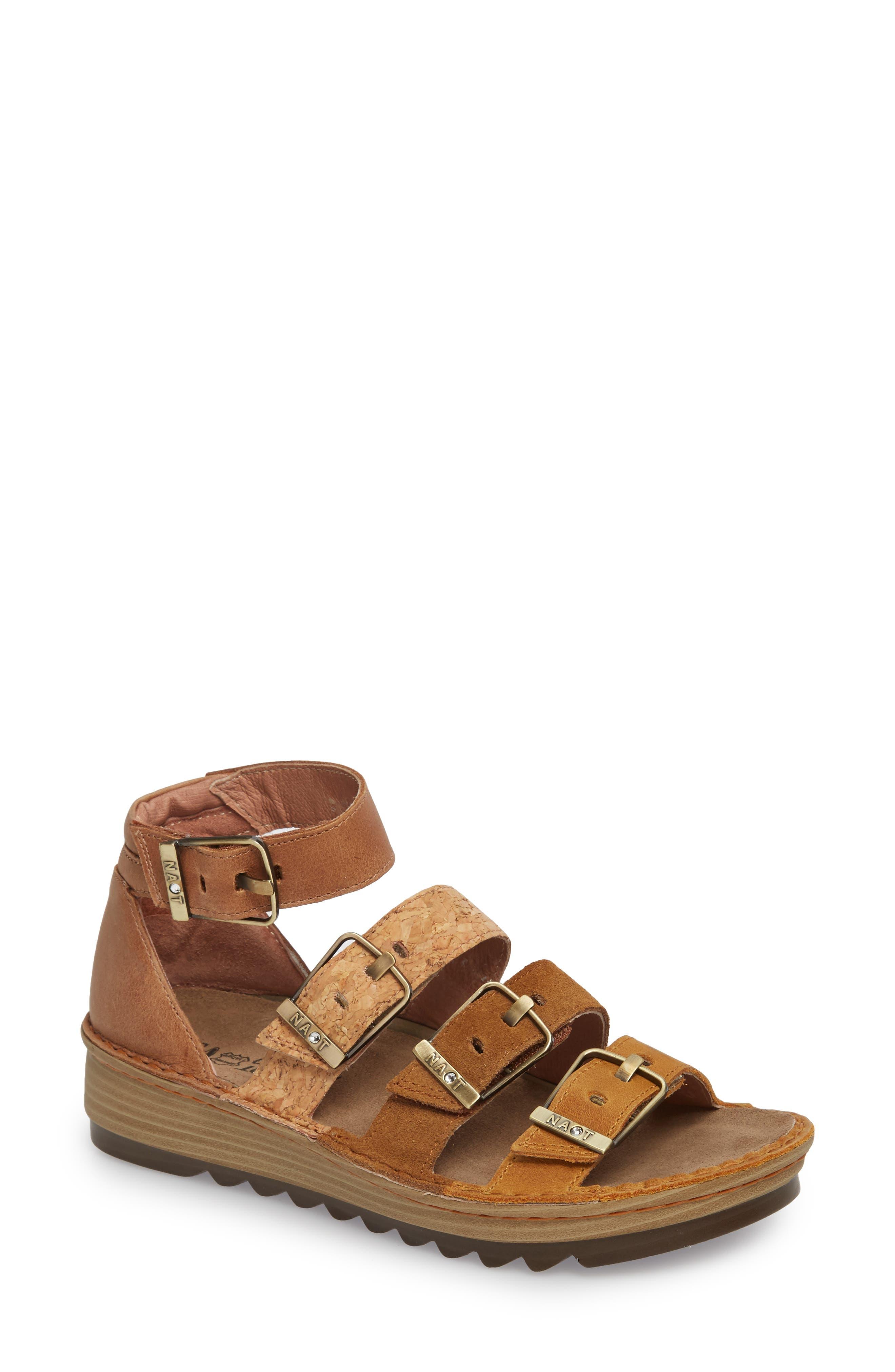 'Begonia' Sandal,                             Main thumbnail 1, color,                             OILY DUNE NUBUCK