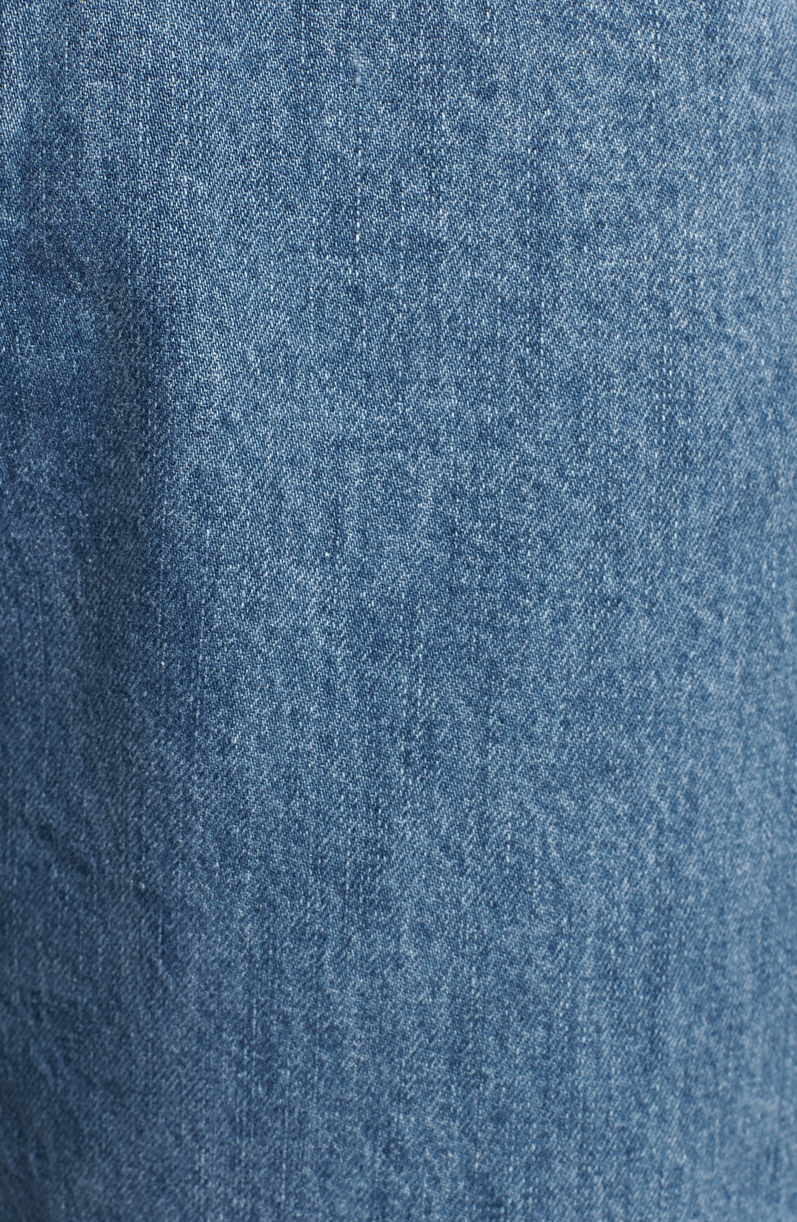 Cuffed Raw Hem Crop Jeans,                             Alternate thumbnail 6, color,                             FAIRFAX