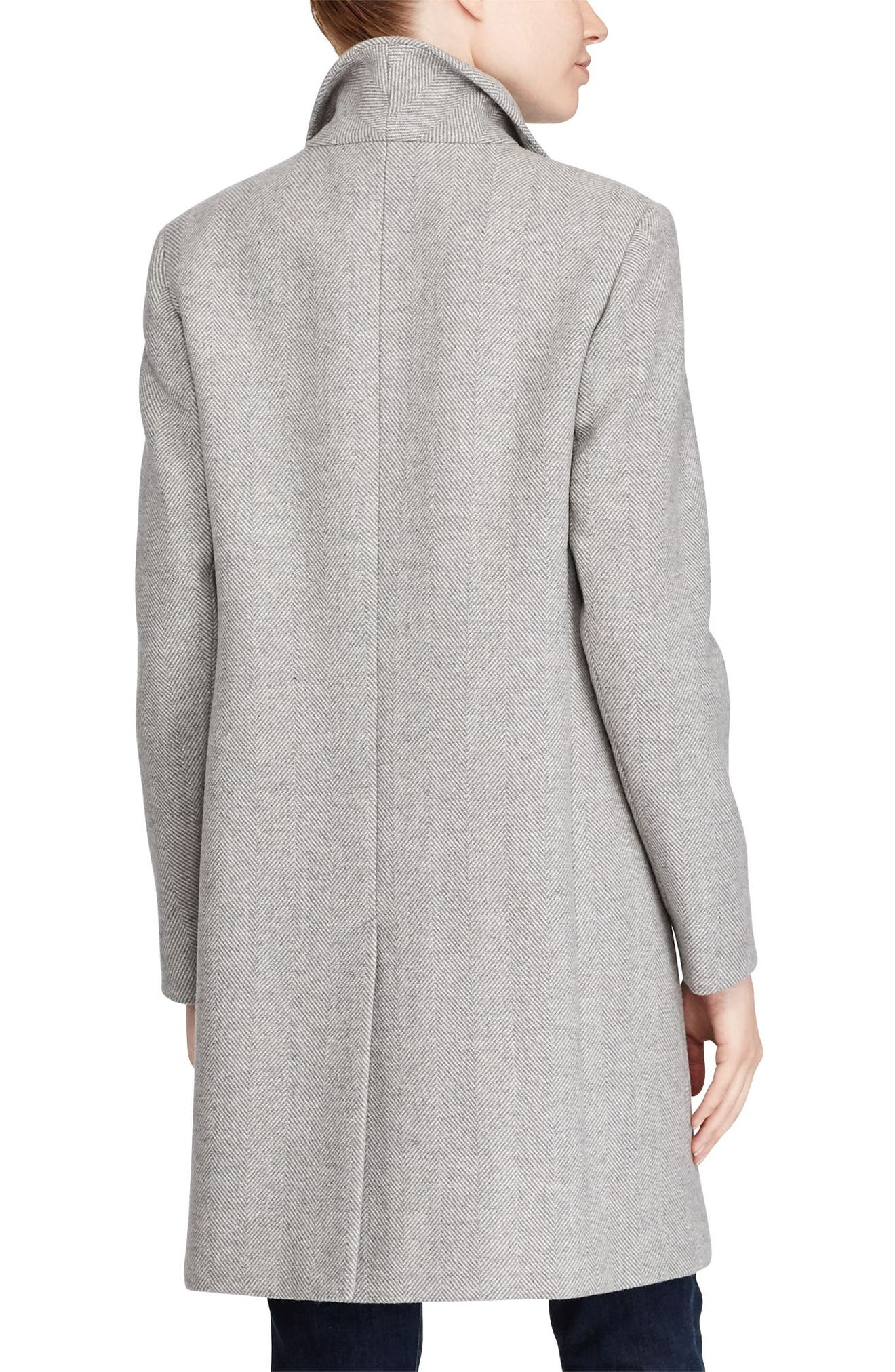 Wool Blend Reefer Coat,                             Alternate thumbnail 31, color,
