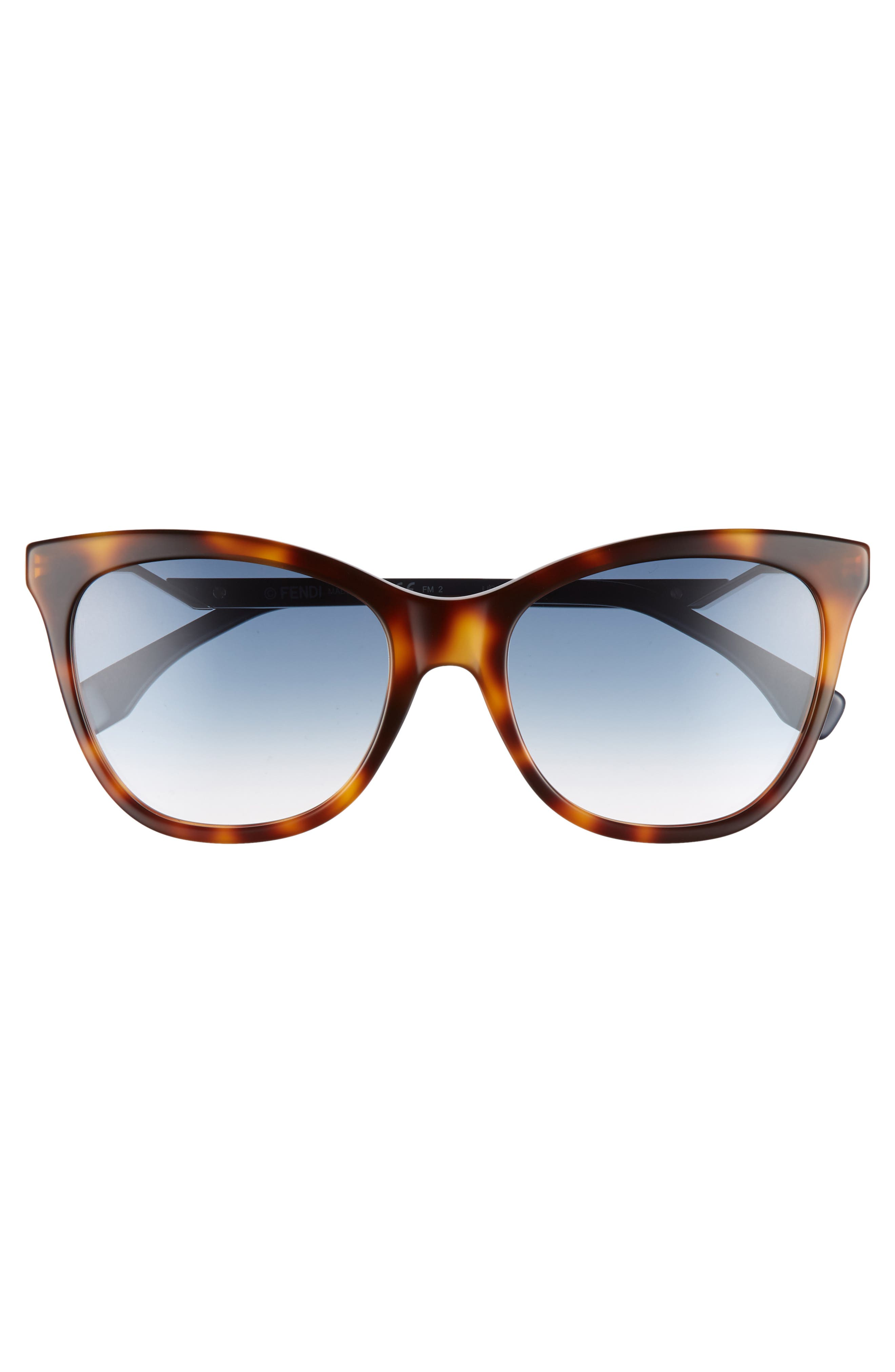 Cube 55mm Cat Eye Sunglasses,                             Alternate thumbnail 3, color,                             413