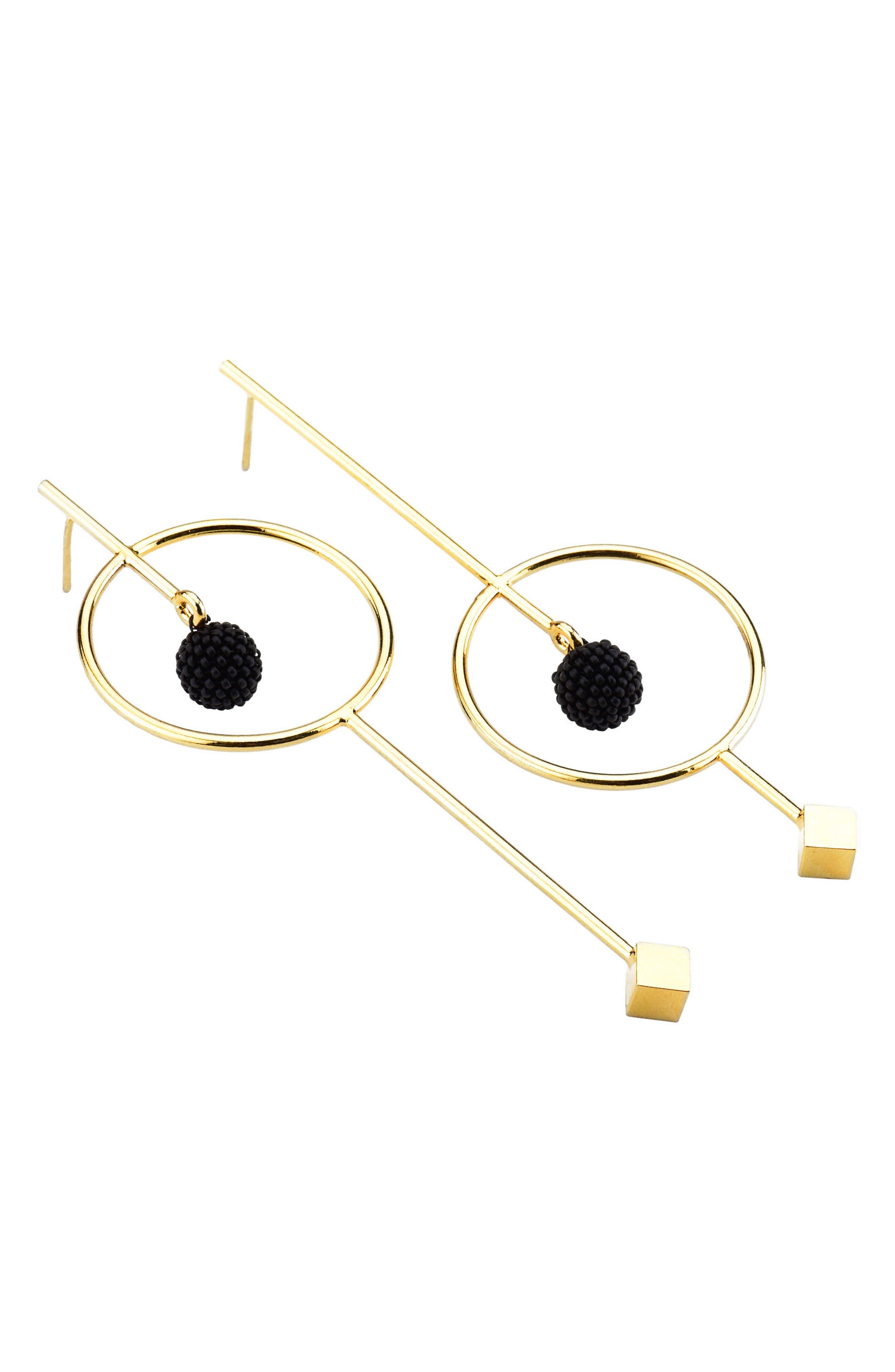 Circle & Bead Statement Earrings,                             Main thumbnail 1, color,