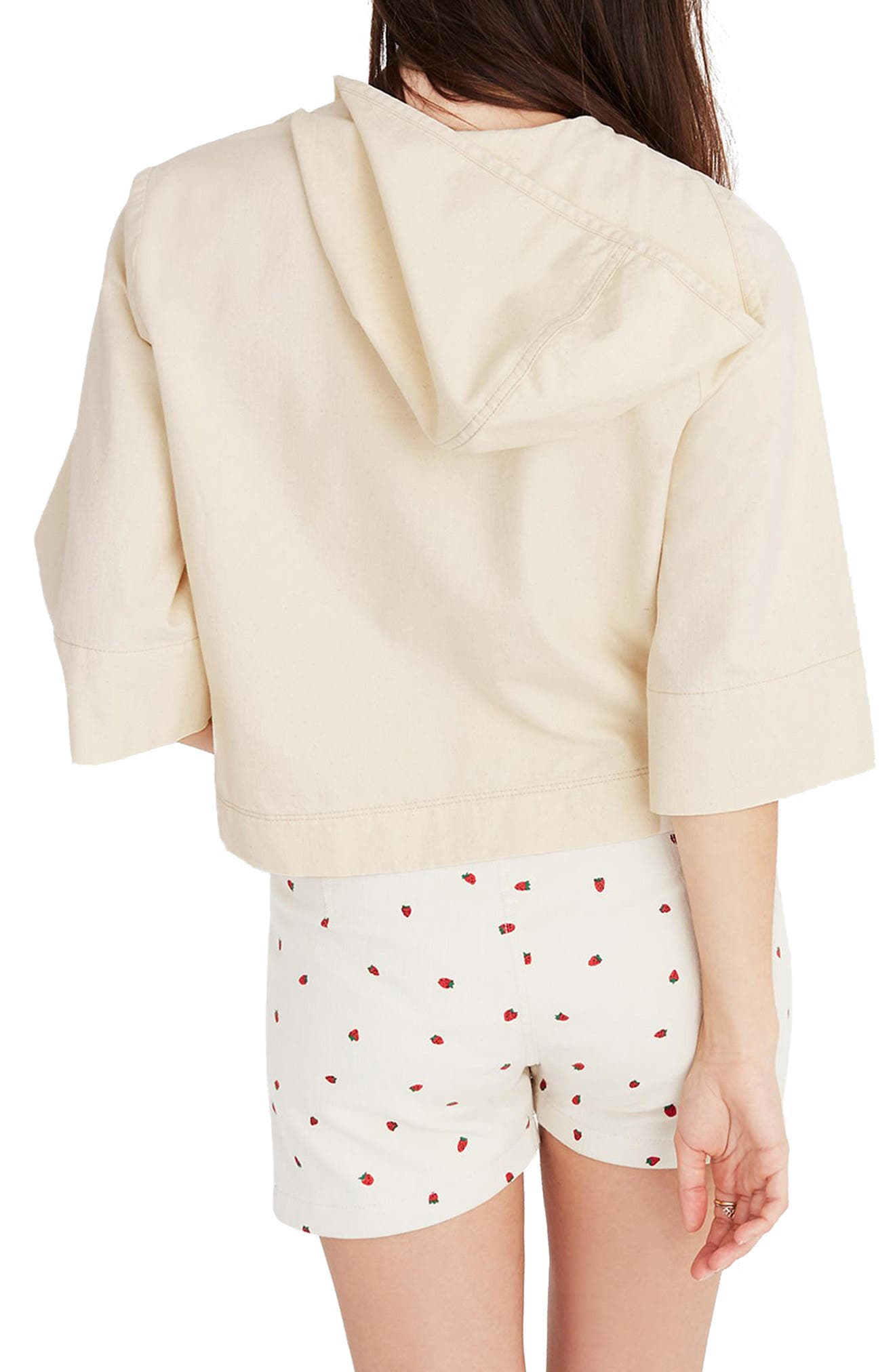 MADEWELL,                             Hooded Popover Top,                             Alternate thumbnail 2, color,                             100