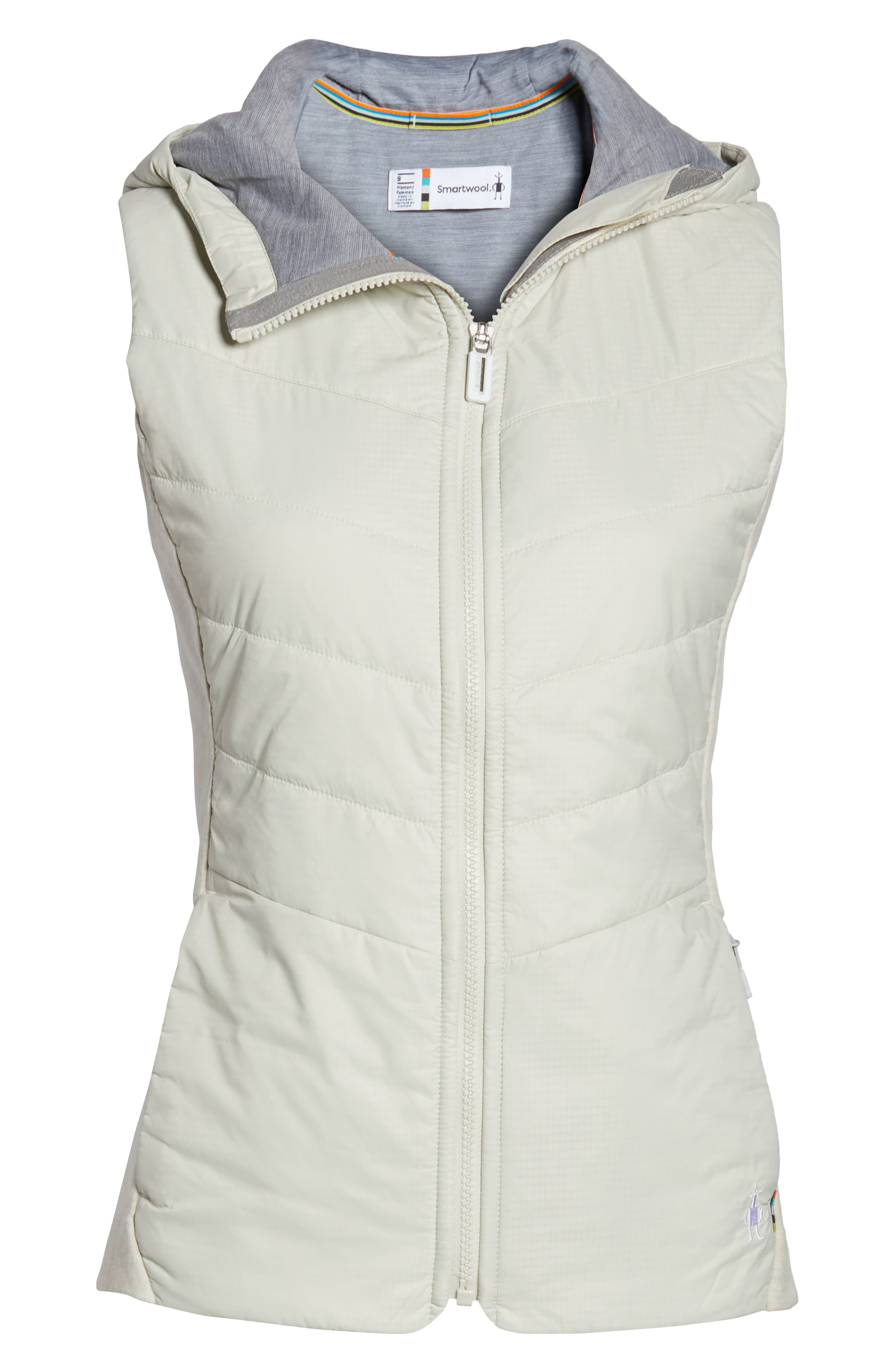 Smartloft 60 Insulated Hooded Vest,                             Alternate thumbnail 6, color,                             SILVER BIRCH
