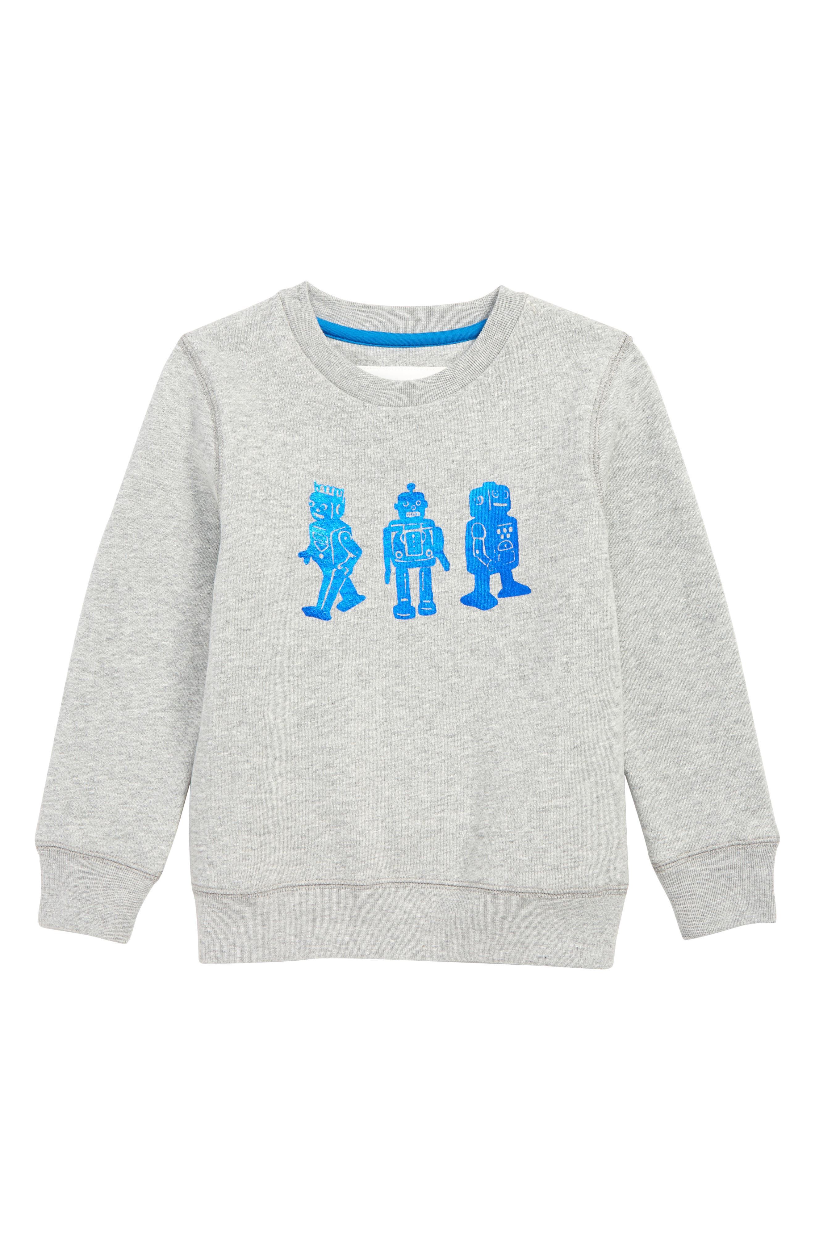 Boys Mini Boden Toy Robot Sweatshirt