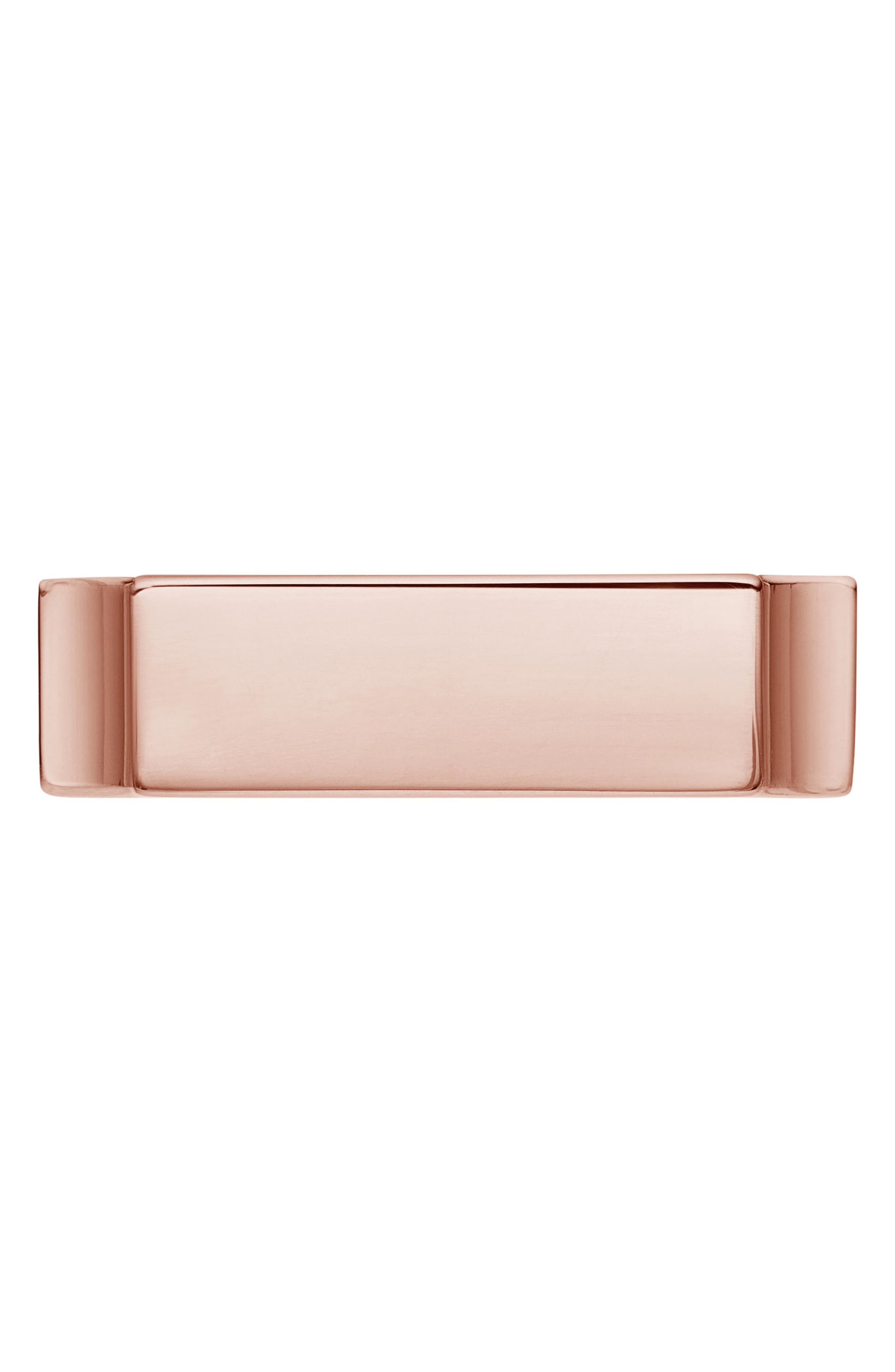Engravable Wide Signature Ring,                             Alternate thumbnail 3, color,                             ROSE GOLD
