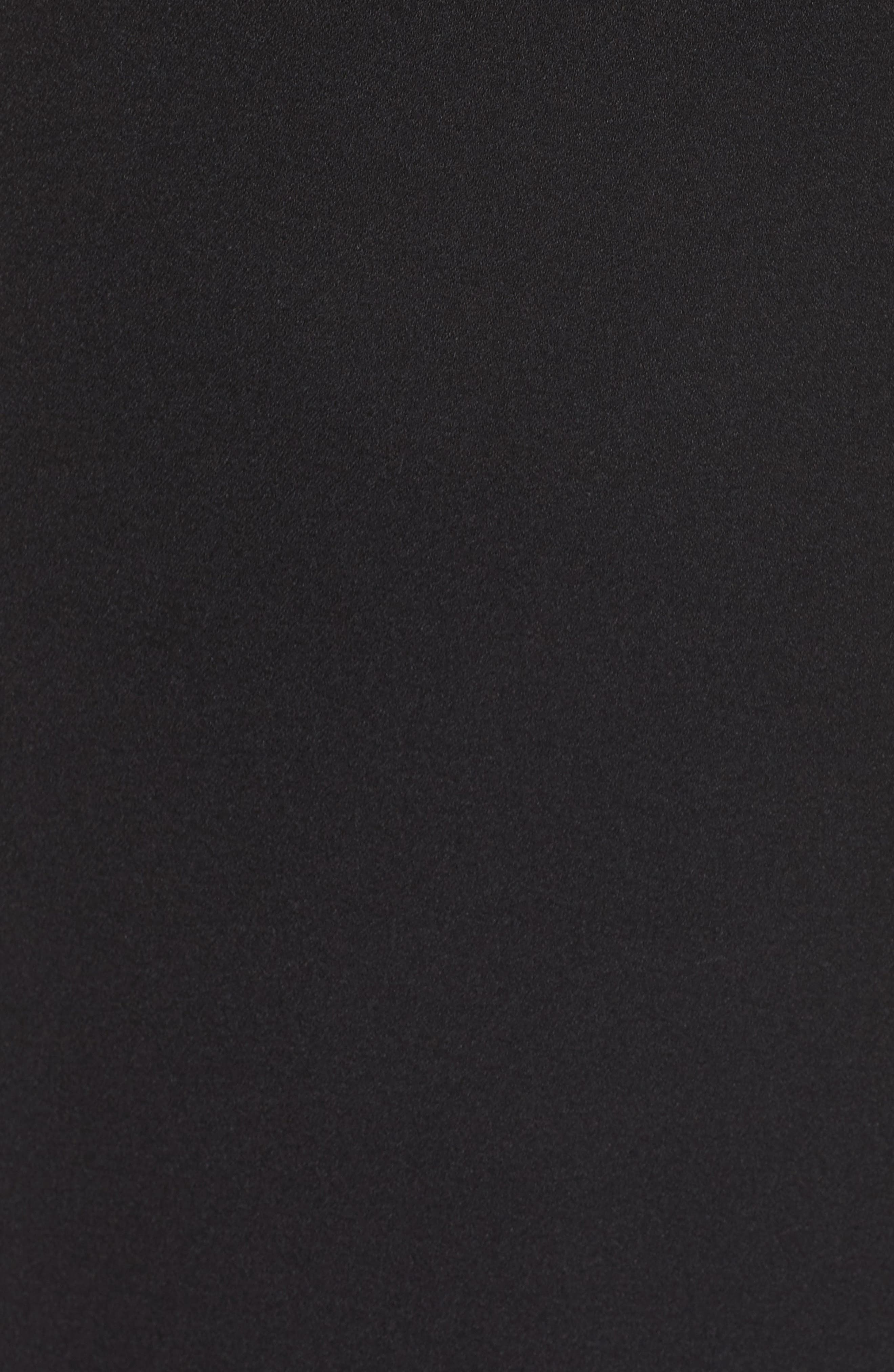 A-Line Dress,                             Alternate thumbnail 7, color,                             BLACK
