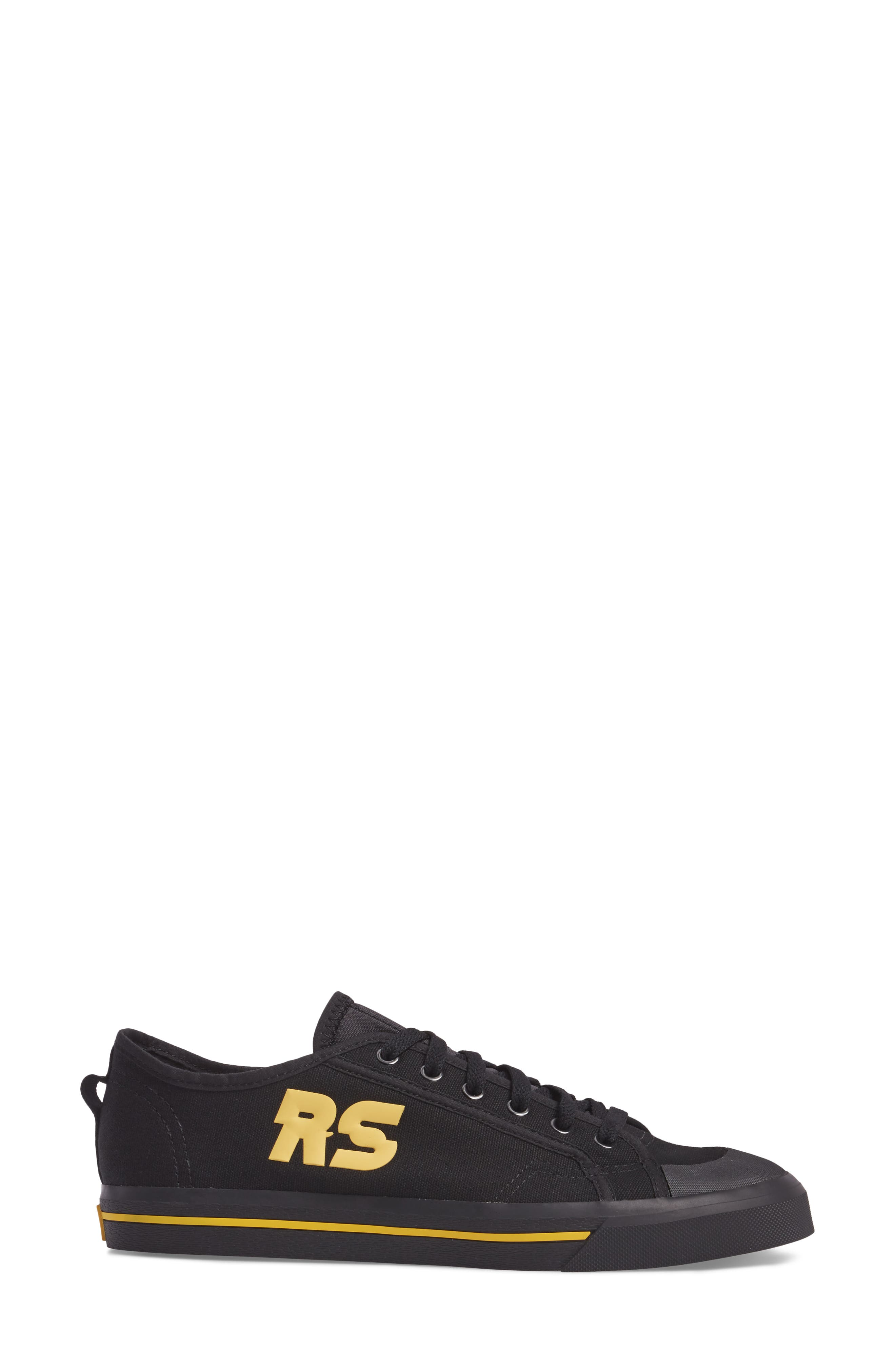 adidas by Raf Simons Spirit Low Top Sneaker,                             Alternate thumbnail 3, color,                             001