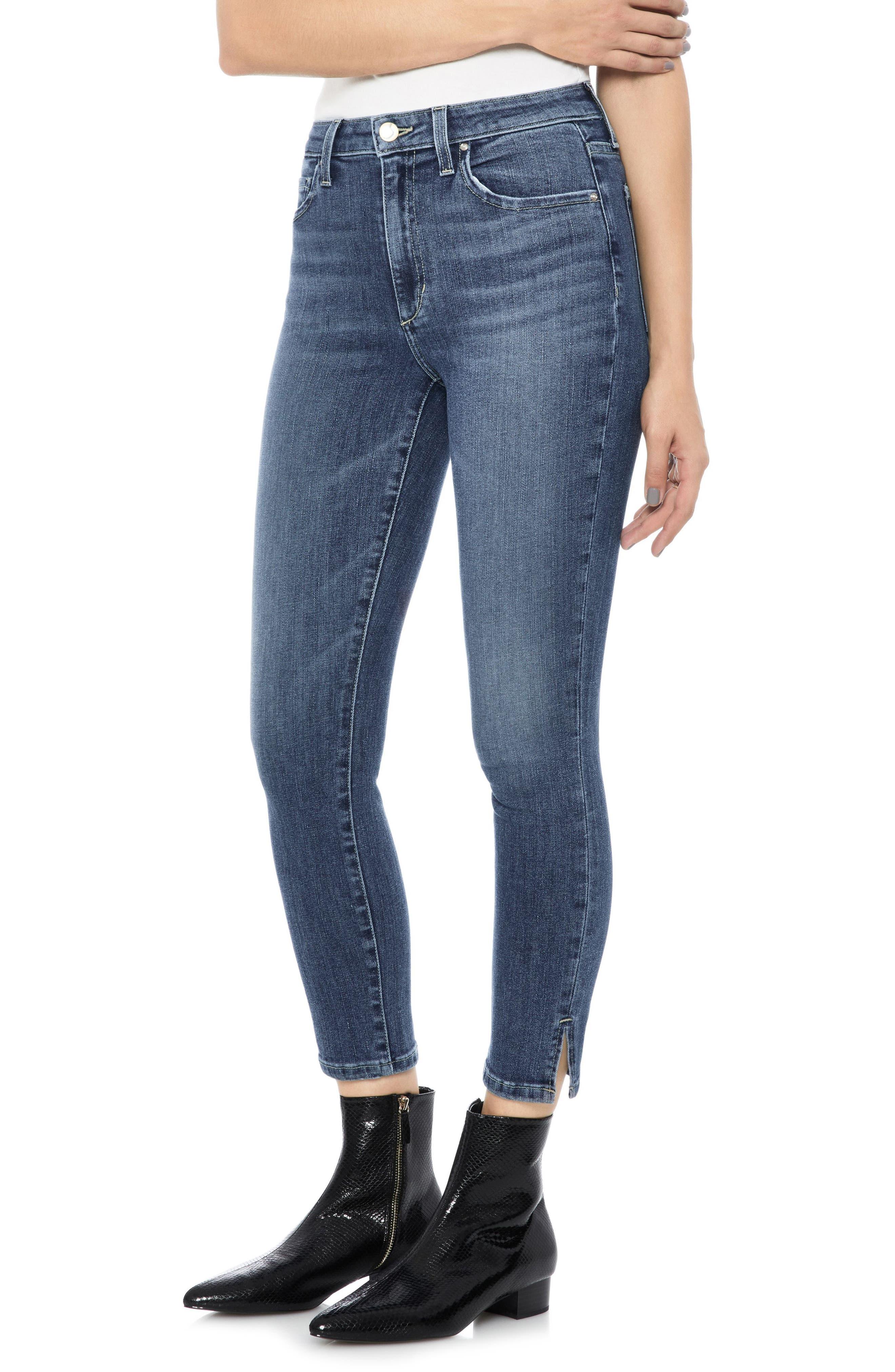 Flawless - Charlie High Waist Crop Skinny Jeans,                             Main thumbnail 1, color,                             ZARIA