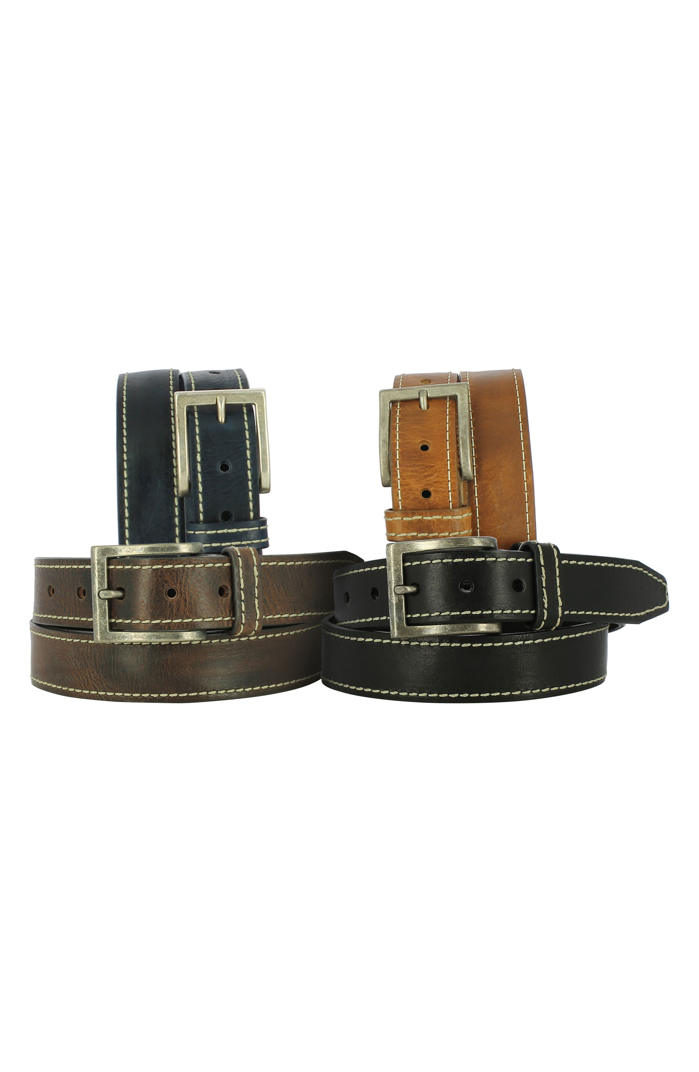 Bo Leather Belt,                             Alternate thumbnail 2, color,                             001