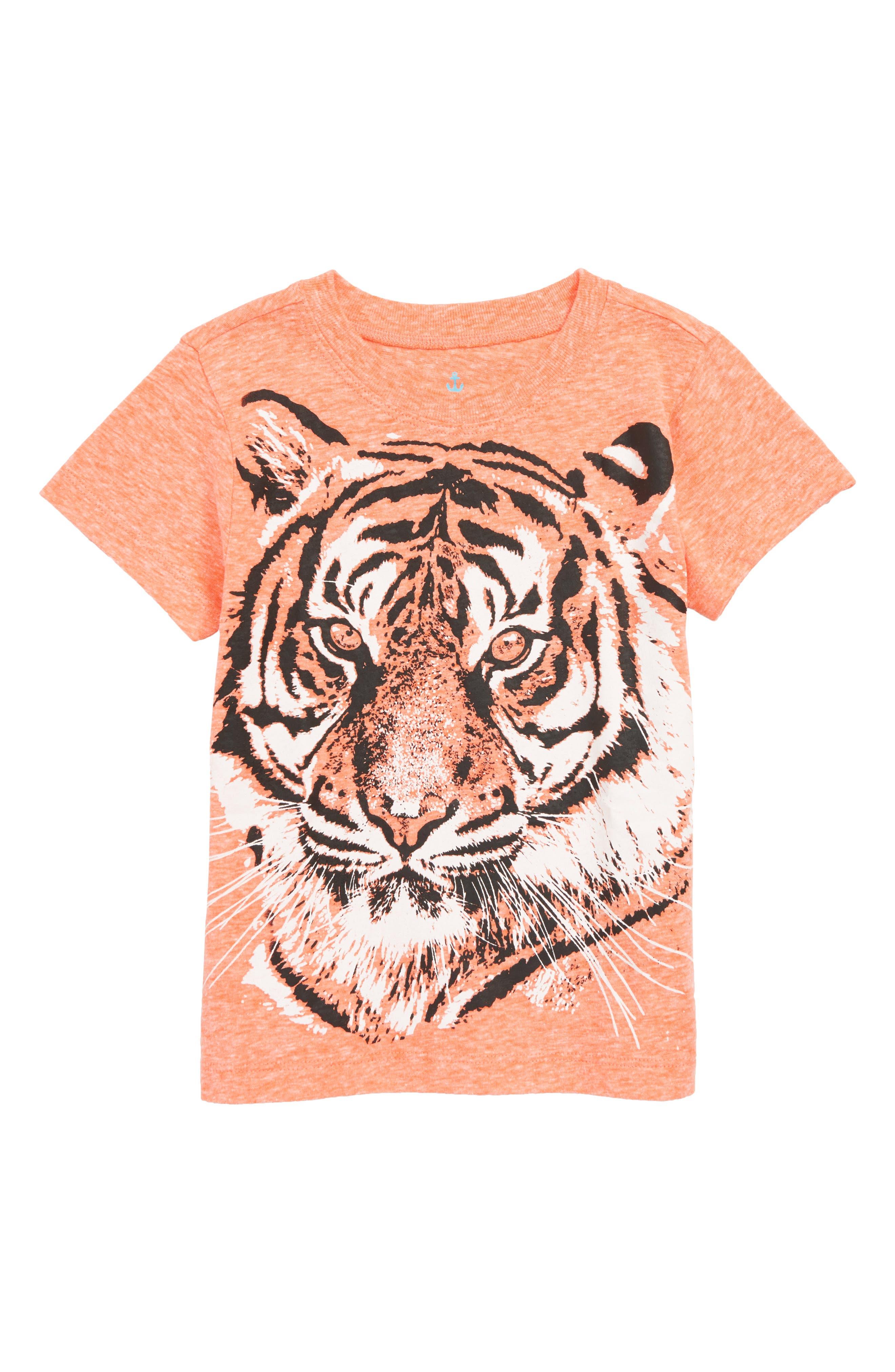 CREWCUTS BY J.CREW Tiger T-Shirt, Main, color, SWEET MELON