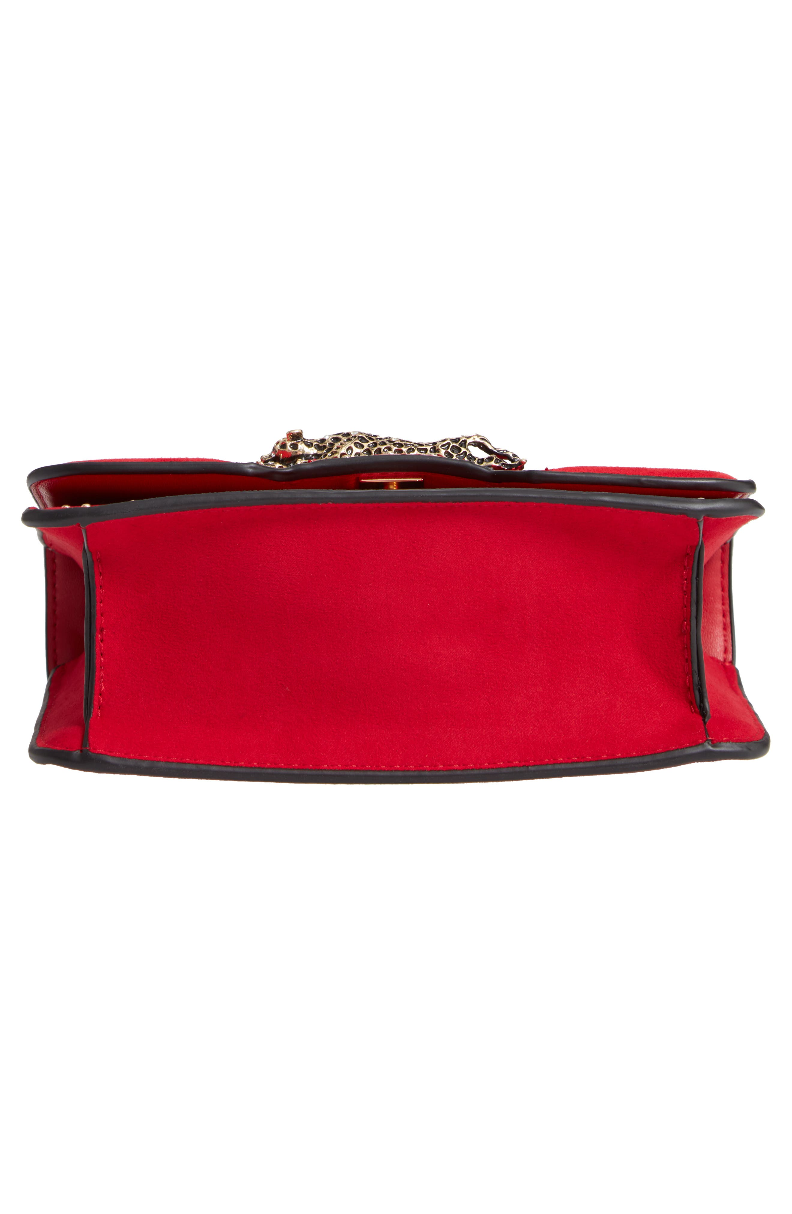 Panther Crossbody Bag,                             Alternate thumbnail 6, color,                             RED